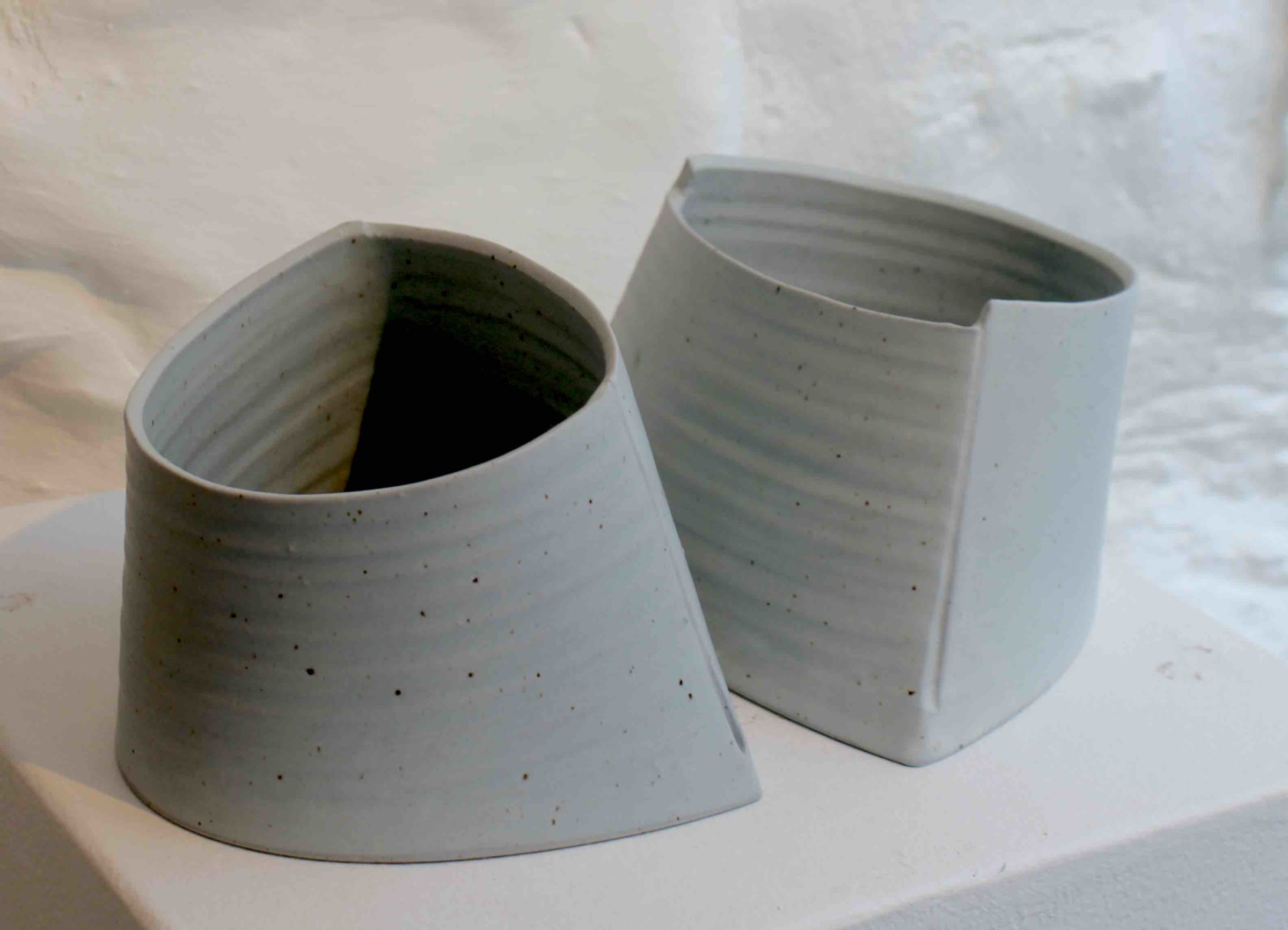 """<span class=""""link fancybox-details-link""""><a href=""""/artists/99-carina-ciscato/works/5768-carina-ciscato-pair-of-coloured-semi-elliptical-2018/"""">View Detail Page</a></span><div class=""""artist""""><strong>Carina Ciscato</strong></div> b. 1970 <div class=""""title""""><em>Pair of Coloured Semi Elliptical</em>, 2018</div> <div class=""""signed_and_dated"""">porcelain</div> <div class=""""medium"""">porcelain</div> <div class=""""dimensions"""">9 x 12 cm<br /> 3 1/2 x 4 3/4 inches</div><div class=""""price"""">£600.00</div><div class=""""copyright_line"""">OwnArt: £60 x 10 Months, 0% APR</div>"""