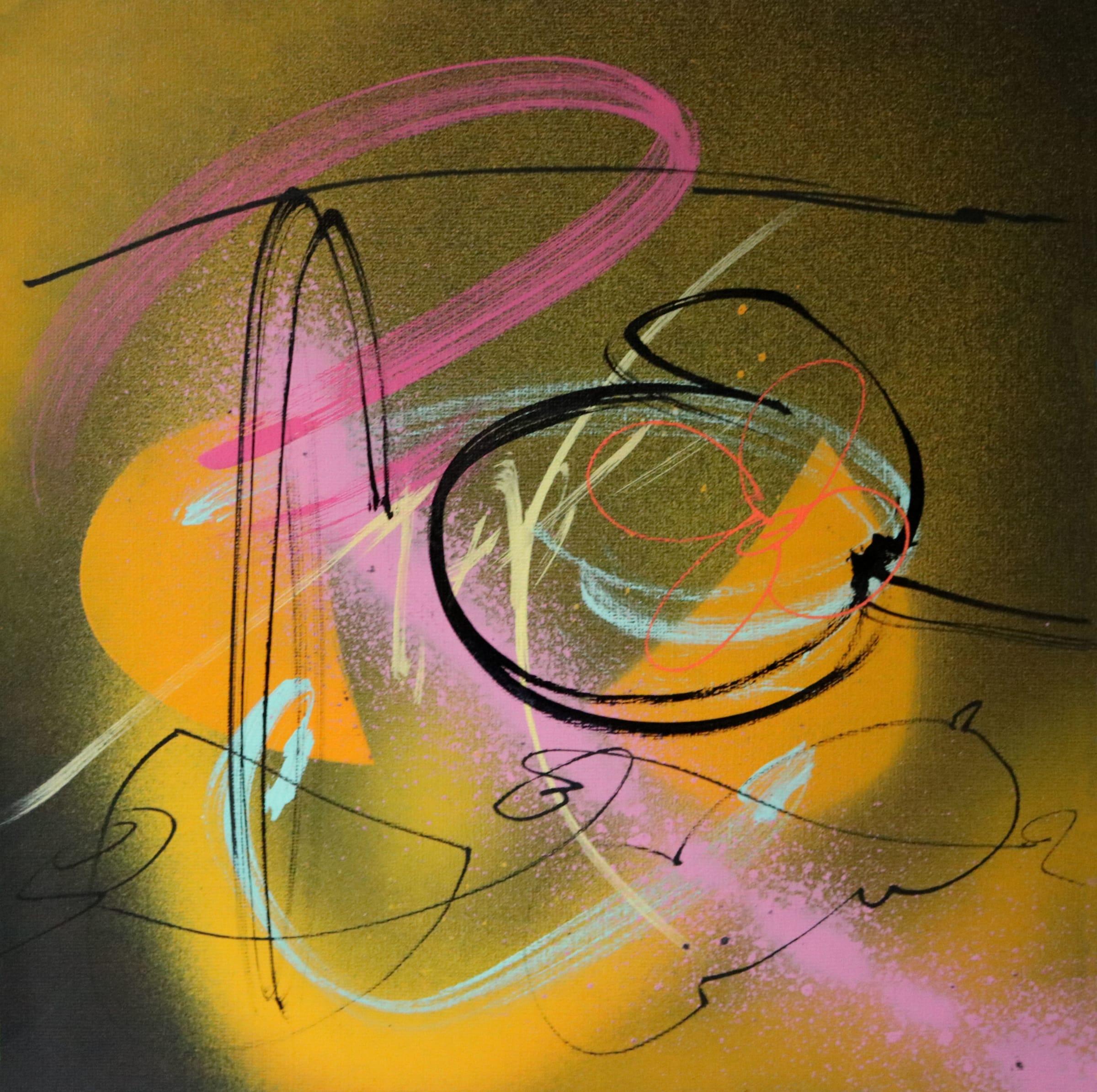 "<span class=""link fancybox-details-link""><a href=""/artists/216-simon-williams/works/7414-simon-williams-cheops-2018/"">View Detail Page</a></span><div class=""artist""><strong>Simon Williams</strong></div> b. 1961 <div class=""title""><em>'Cheops'</em>, 2018</div> <div class=""medium"">Spray paint and acrylic ink on coloured paper.</div> <div class=""dimensions"">h. 30 cm x w. 30 cm</div><div class=""price"">£550.00</div><div class=""copyright_line"">Own Art: £55 x 10 months, 0% APR</div>"