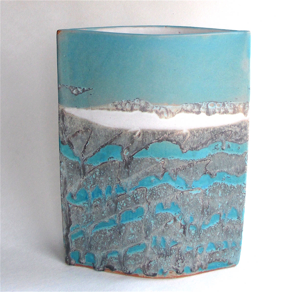 """<span class=""""link fancybox-details-link""""><a href=""""/artists/44-sarah-perry/works/7301-sarah-perry-seascape-ellipse-2020/"""">View Detail Page</a></span><div class=""""artist""""><strong>Sarah Perry</strong></div> b. 1945 <div class=""""title""""><em>Seascape Ellipse</em>, 2020</div> <div class=""""signed_and_dated"""">impressed with the artist's seal mark 'SP'</div> <div class=""""medium"""">stoneware </div> <div class=""""dimensions"""">h 29 x w 18 cm</div><div class=""""price"""">£350.00</div><div class=""""copyright_line"""">Ownart: £33 x 10 Months, 0% APR</div>"""