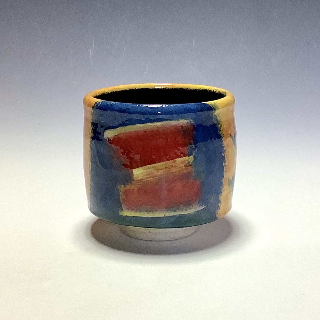 """<span class=""""link fancybox-details-link""""><a href=""""/artists/100-john-pollex/works/7847-john-pollex-tea-bowl-2021/"""">View Detail Page</a></span><div class=""""artist""""><strong>John Pollex</strong></div> <div class=""""title""""><em>Tea Bowl</em>, 2021</div> <div class=""""signed_and_dated"""">impressed with the artist's seal mark 'JP'</div> <div class=""""medium"""">white earthenware decorated with coloured slips</div> <div class=""""dimensions"""">height. 9 cm x diameter. 9.5 cm</div><div class=""""price"""">£88.00</div><div class=""""copyright_line"""">Own Art: £8.80 x 10 Months, 0% APR</div>"""