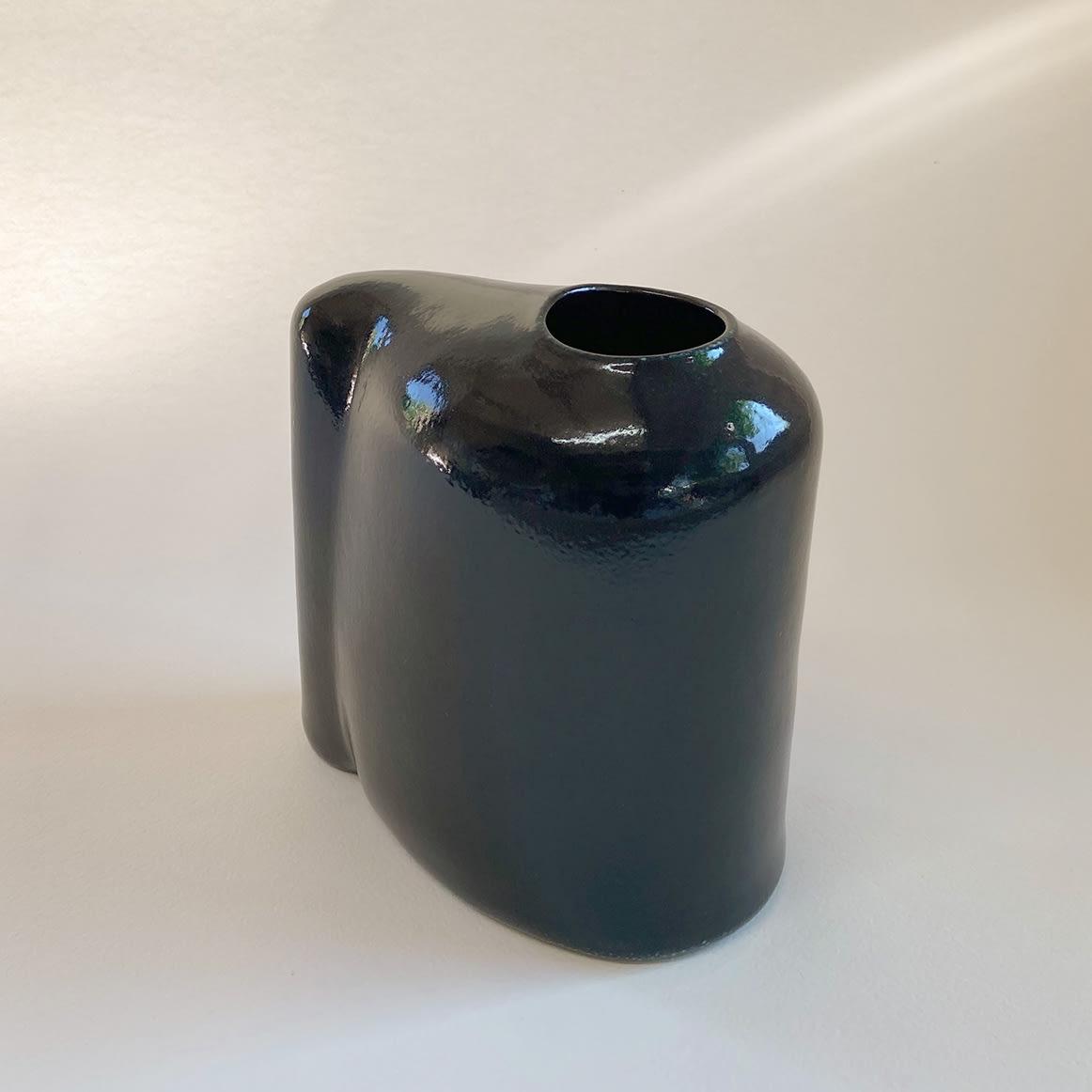 """<span class=""""link fancybox-details-link""""><a href=""""/content/feature/36/artworks7953/"""">View Detail Page</a></span><div class=""""medium"""">slab-built, salt glazed stoneware</div> <div class=""""dimensions""""> h. 18 x w. 17 x d. 10 cm</div>"""