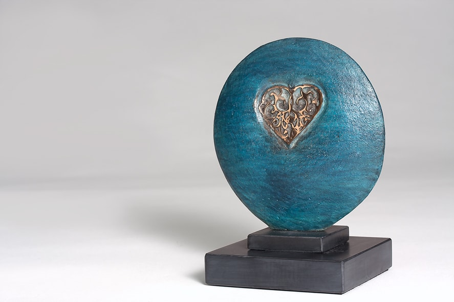 """<span class=""""link fancybox-details-link""""><a href=""""/artists/69-margaret-lovell-d.litt.-hon-frbs-rwa/works/4782-margaret-lovell-d.litt.-hon-frbs-rwa-c.c.-2011/"""">View Detail Page</a></span><div class=""""artist""""><strong>Margaret Lovell D.Litt. Hon FRBS RWA</strong></div> b. 1939 <div class=""""title""""><em>C.C.</em>, 2011</div> <div class=""""signed_and_dated"""">signed by the Artist<br /> 1/4 (though only 3 in existence)</div> <div class=""""medium"""">cast bronze (patinated) on granite base<br /> </div> <div class=""""dimensions"""">15 x 11.5 cm<br /> 5 7/8 x 4 1/2 in</div> <div class=""""edition_details"""">edition 1 of 4</div><div class=""""copyright_line"""">Own Art: £ 215 x 10 Months, 0% APR</div>"""