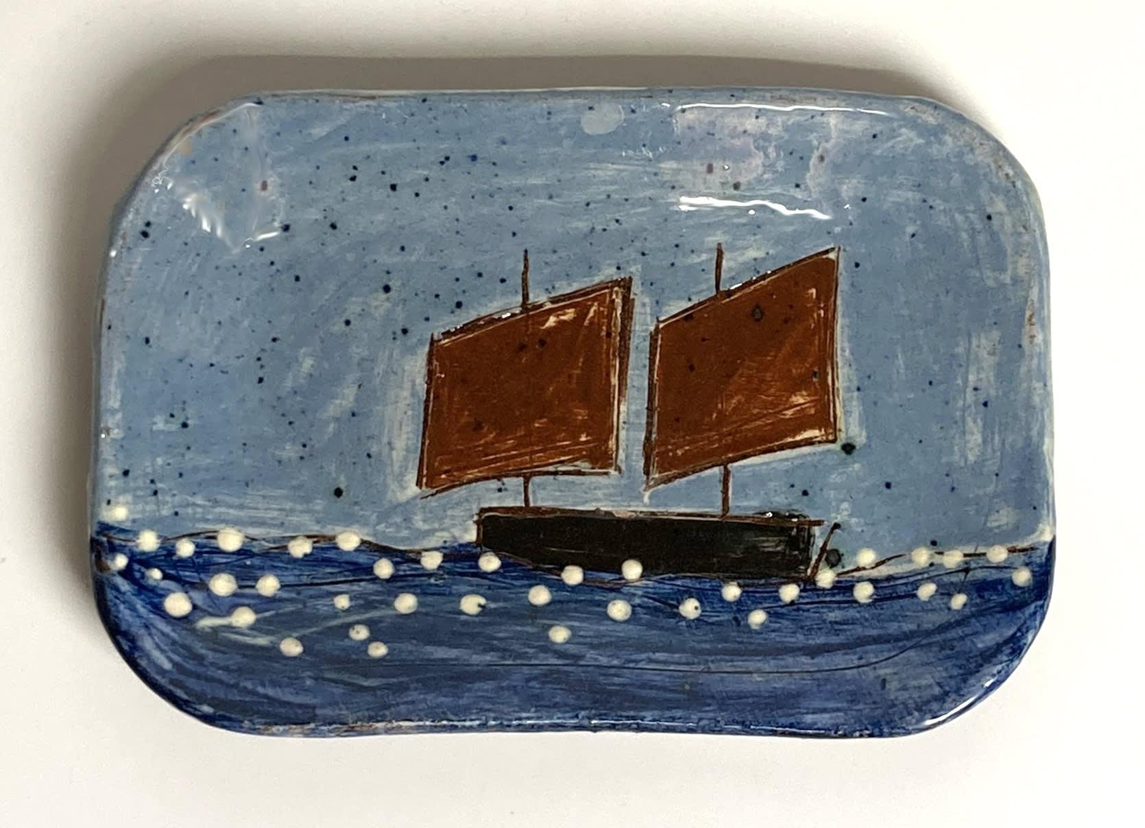 "<span class=""link fancybox-details-link""><a href=""/artists/428-anne-barrell/works/7682-anne-barrell-two-red-sails-2021/"">View Detail Page</a></span><div class=""artist""><strong>Anne Barrell</strong></div> <div class=""title""><em>Two Red Sails</em>, 2021</div> <div class=""medium"">handmade, hand-painted ceramic </div> <div class=""dimensions"">h. 12 x w. 8.5 cm </div><div class=""copyright_line"">Own Art: £4 x 10 Months, 0% APR</div>"