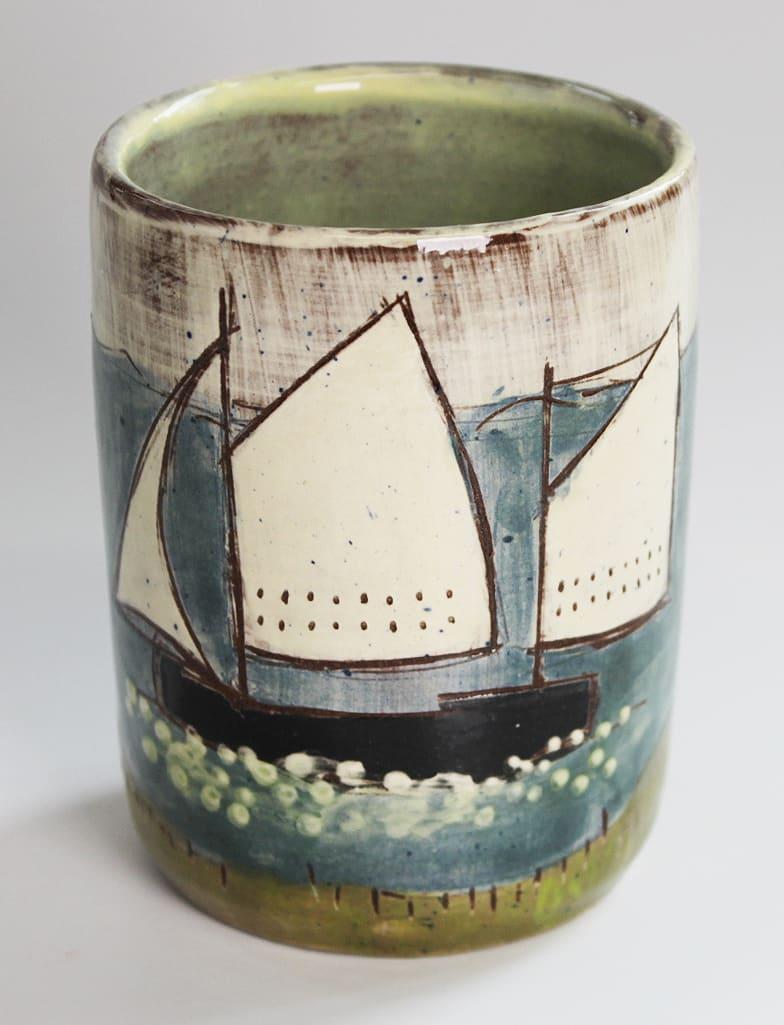 "<span class=""link fancybox-details-link""><a href=""/artists/428-anne-barrell/works/7648-anne-barrell-rum-cup-2021/"">View Detail Page</a></span><div class=""artist""><strong>Anne Barrell</strong></div> <div class=""title""><em>Rum Cup</em>, 2021</div> <div class=""medium"">handmade, handpainted ceramic</div> <div class=""dimensions"">h. 9 x w. 8 cm</div><div class=""copyright_line"">Ownart: £5.50 x 10 Months, 0% APR</div>"