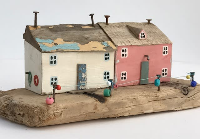 "<span class=""link fancybox-details-link""><a href=""/artists/199-kirsty-elson/works/5135-kirsty-elson-wreckers-cottages-2018/"">View Detail Page</a></span><div class=""artist""><strong>Kirsty Elson</strong></div> <div class=""title""><em>Wreckers Cottages</em>, 2018</div> <div class=""medium"">Driftwood, reclaimed nails, beads, reclaimed fishing wire</div> <div class=""dimensions"">10 x 23 x 10 cm<br /> 4 x 9 1/8 x 4 inches</div><div class=""copyright_line"">OwnArt: £ 16.50 x 10 Months, 0% APR</div>"