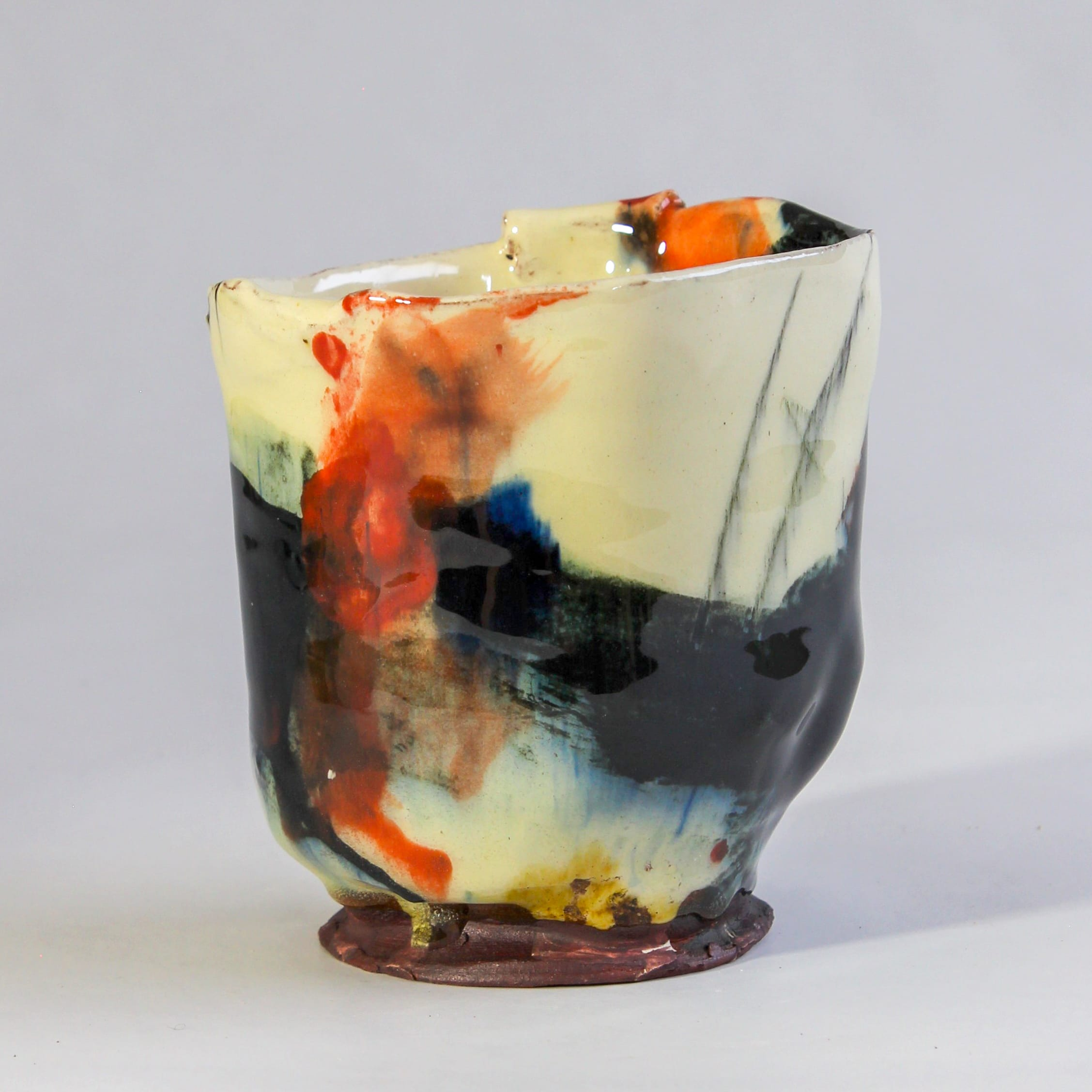 """<span class=""""link fancybox-details-link""""><a href=""""/artists/34-barry-stedman/works/7823-barry-stedman-thrown-altered-vessel-2021/"""">View Detail Page</a></span><div class=""""artist""""><strong>Barry Stedman</strong></div> <div class=""""title""""><em>Thrown altered Vessel </em>, 2021</div> <div class=""""medium"""">thrown and altered earthenware, decorated with slips</div> <div class=""""dimensions"""">11 x 11 cm</div><div class=""""copyright_line"""">Own Art: £10.50 x 10 Months, 0% APR</div>"""