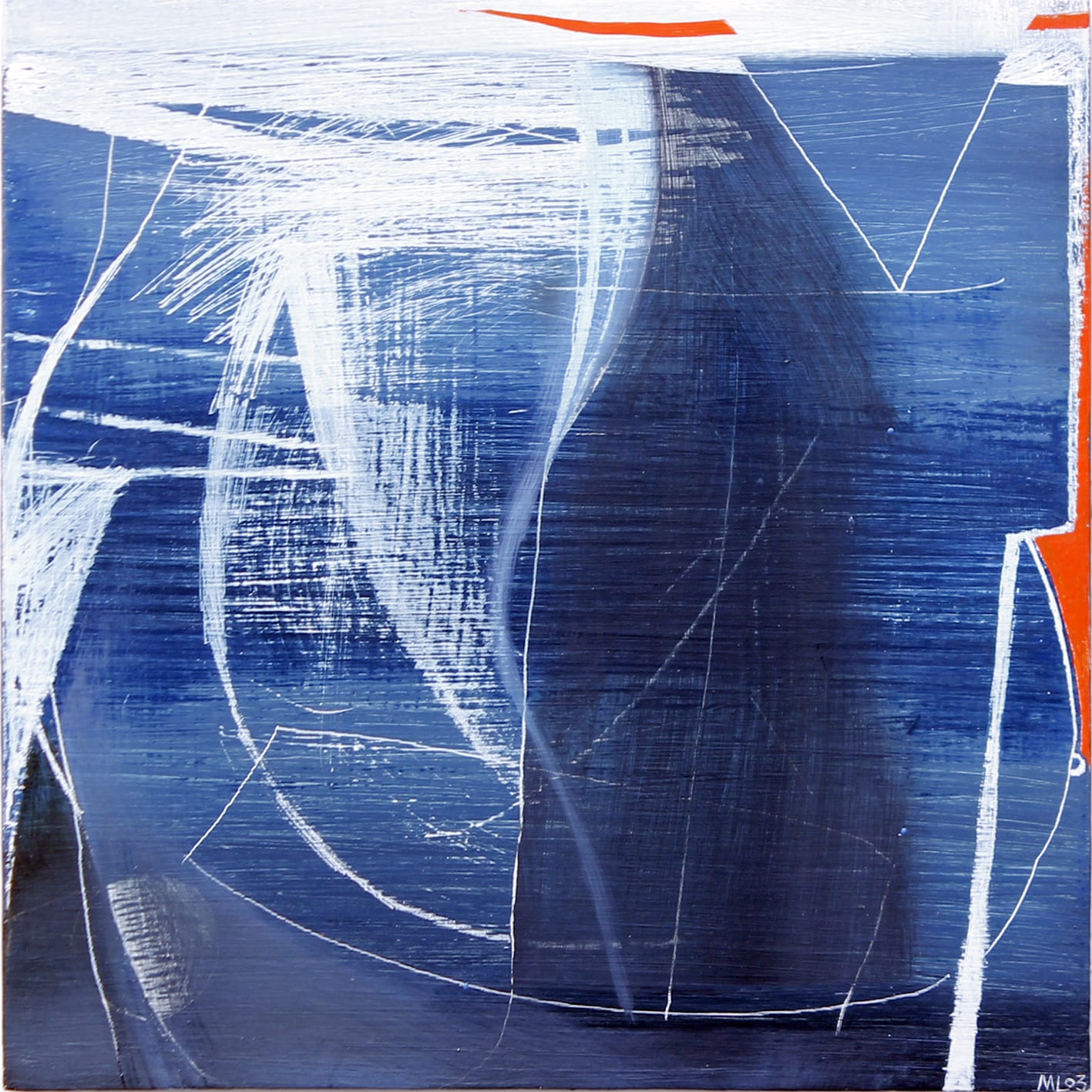 """<span class=""""link fancybox-details-link""""><a href=""""/artists/45-matthew-lanyon/works/5835-matthew-lanyon-europa-xiv-2003/"""">View Detail Page</a></span><div class=""""artist""""><strong>Matthew Lanyon</strong></div> 1951-2016 <div class=""""title""""><em>Europa XIV</em>, 2003</div> <div class=""""signed_and_dated"""">initialled 'ML' and dated '03' lower right, <br /> and further signed, titled and dated to reverse</div> <div class=""""medium"""">oil on board</div> <div class=""""dimensions"""">h 26.5 x w 26.5 cm<br /> h 10 3/8 x w 10 3/8 in</div><div class=""""copyright_line"""">© The Estate of Matthew Lanyon</div>"""