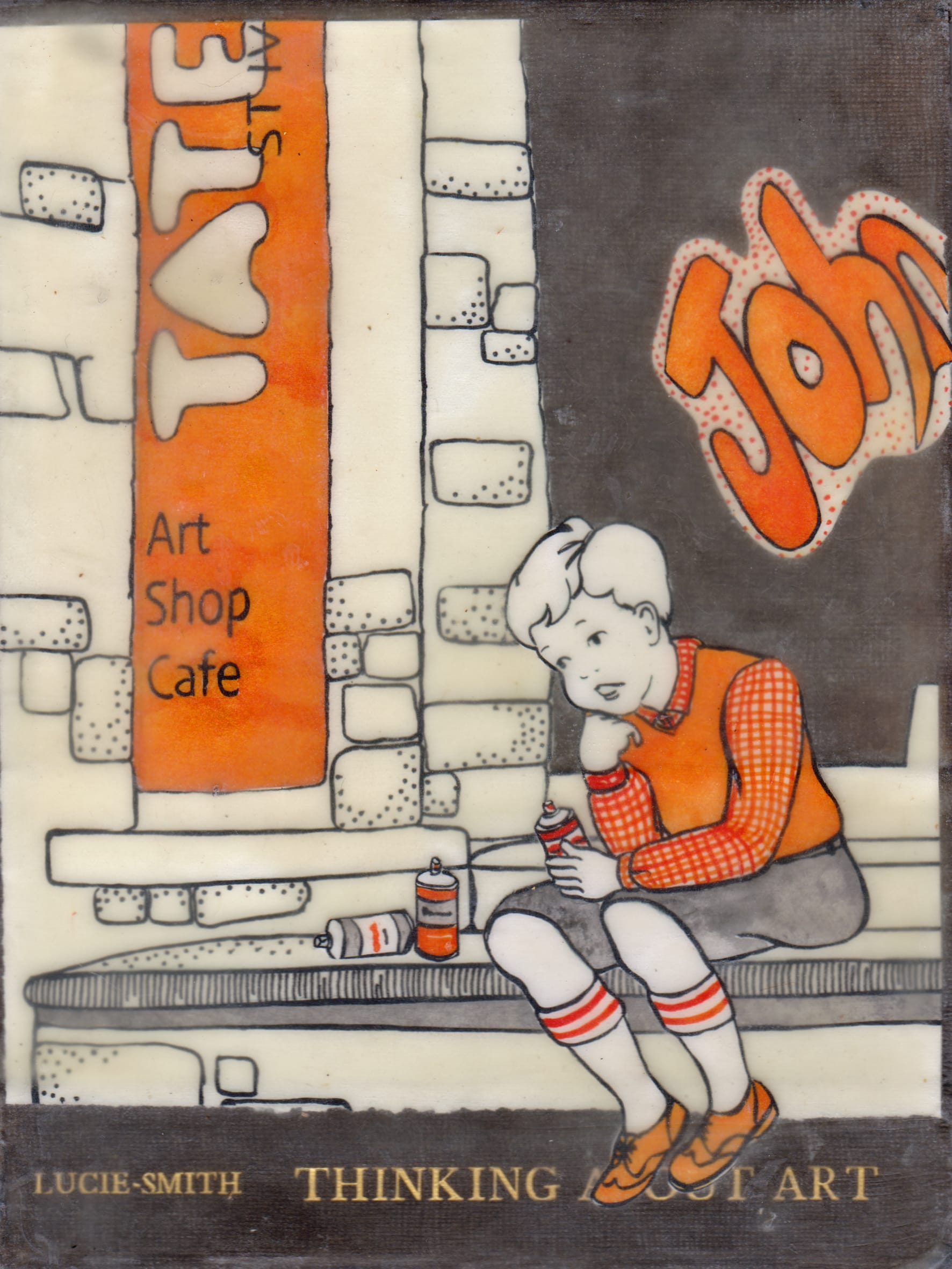 """<span class=""""link fancybox-details-link""""><a href=""""/artists/37-ann-winder-boyle/works/5884-ann-winder-boyle-thinking-about-art-2018/"""">View Detail Page</a></span><div class=""""artist""""><strong>Ann Winder-Boyle</strong></div> b. 1963 <div class=""""title""""><em>Thinking About Art</em>, 2018</div> <div class=""""signed_and_dated"""">signed by the artist on reverse</div> <div class=""""medium"""">vintage books, ink drawings and beeswax</div> <div class=""""dimensions"""">20 x 15 cm unframed<br /> 40 x 35 cm framed</div><div class=""""price"""">£695.00</div>"""