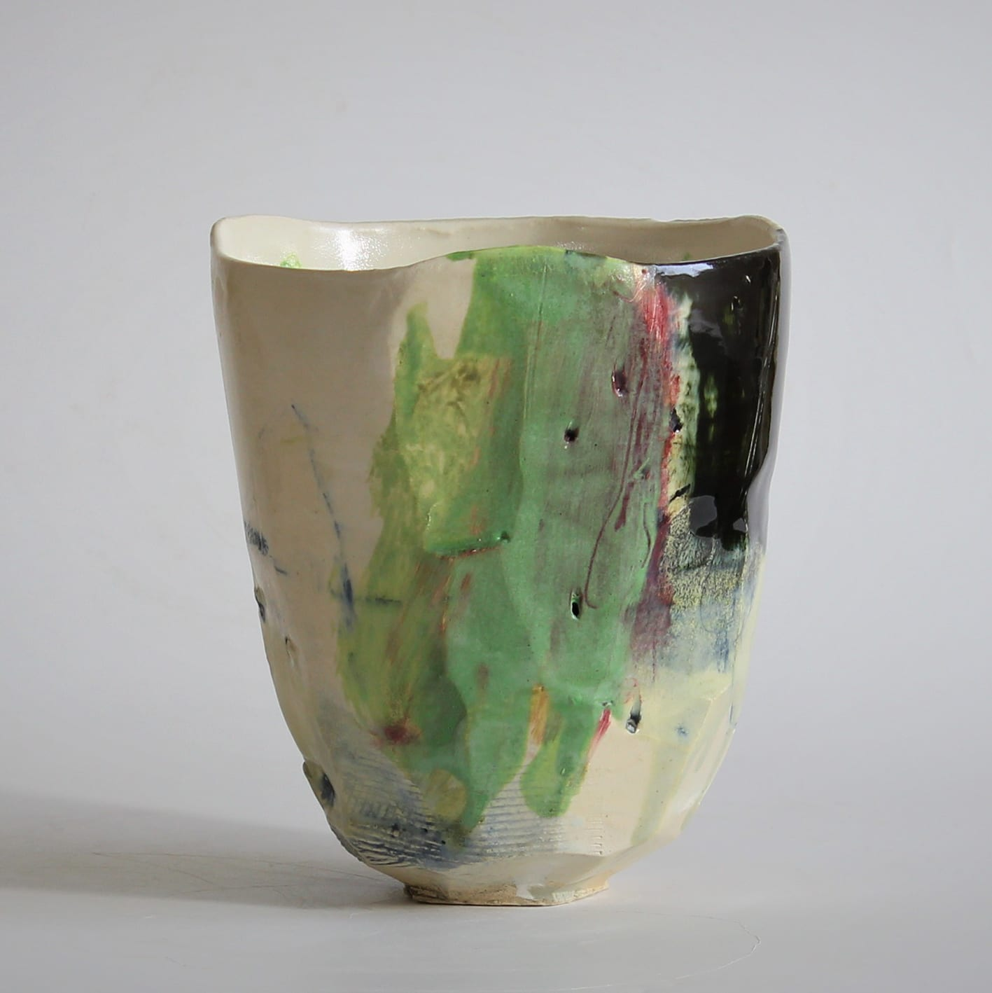 """<span class=""""link fancybox-details-link""""><a href=""""/artists/34-barry-stedman/works/6730-barry-stedman-each-passing-day-series-vessel-d-2019/"""">View Detail Page</a></span><div class=""""artist""""><strong>Barry Stedman</strong></div> b. 1965 <div class=""""title""""><em>'Each Passing Day' Series Vessel (D)</em>, 2019</div> <div class=""""medium"""">thrown and altered earthenware, decorated with slips</div> <div class=""""dimensions"""">16 x 14 cm</div><div class=""""price"""">£255.00</div><div class=""""copyright_line"""">Own Art: £ 25.50 x 10 Months, 0% APR</div>"""