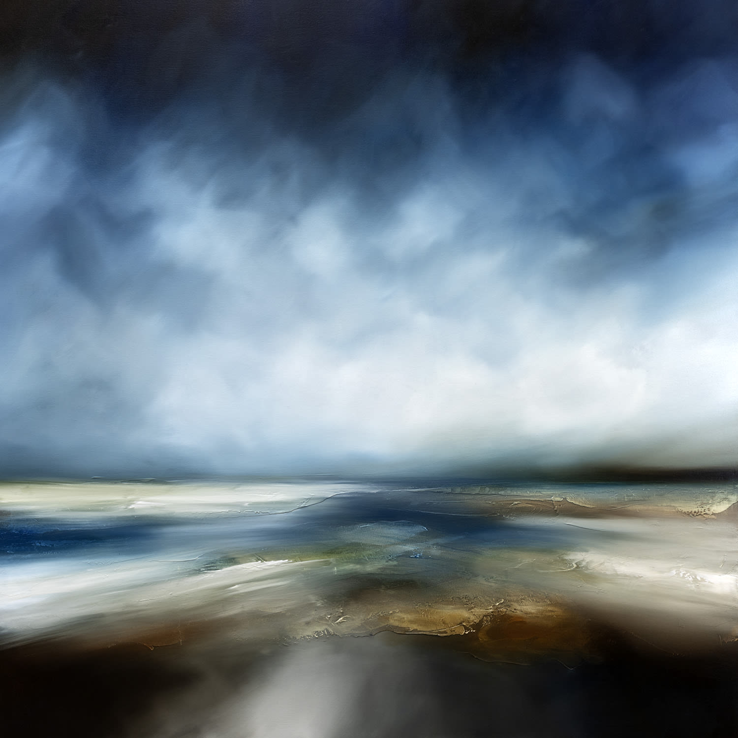 """<span class=""""link fancybox-details-link""""><a href=""""/artists/244-paul-bennett/works/6991-paul-bennett-the-returning-tides-2020/"""">View Detail Page</a></span><div class=""""artist""""><strong>Paul Bennett</strong></div> b. 1975 <div class=""""title""""><em>The Returning Tides</em>, 2020</div> <div class=""""signed_and_dated"""">signed on the back</div> <div class=""""medium"""">Oil on deep edged canvas</div> <div class=""""dimensions"""">h. 100 x w. 100 cm</div><div class=""""copyright_line"""">Copyright The Artist</div>"""