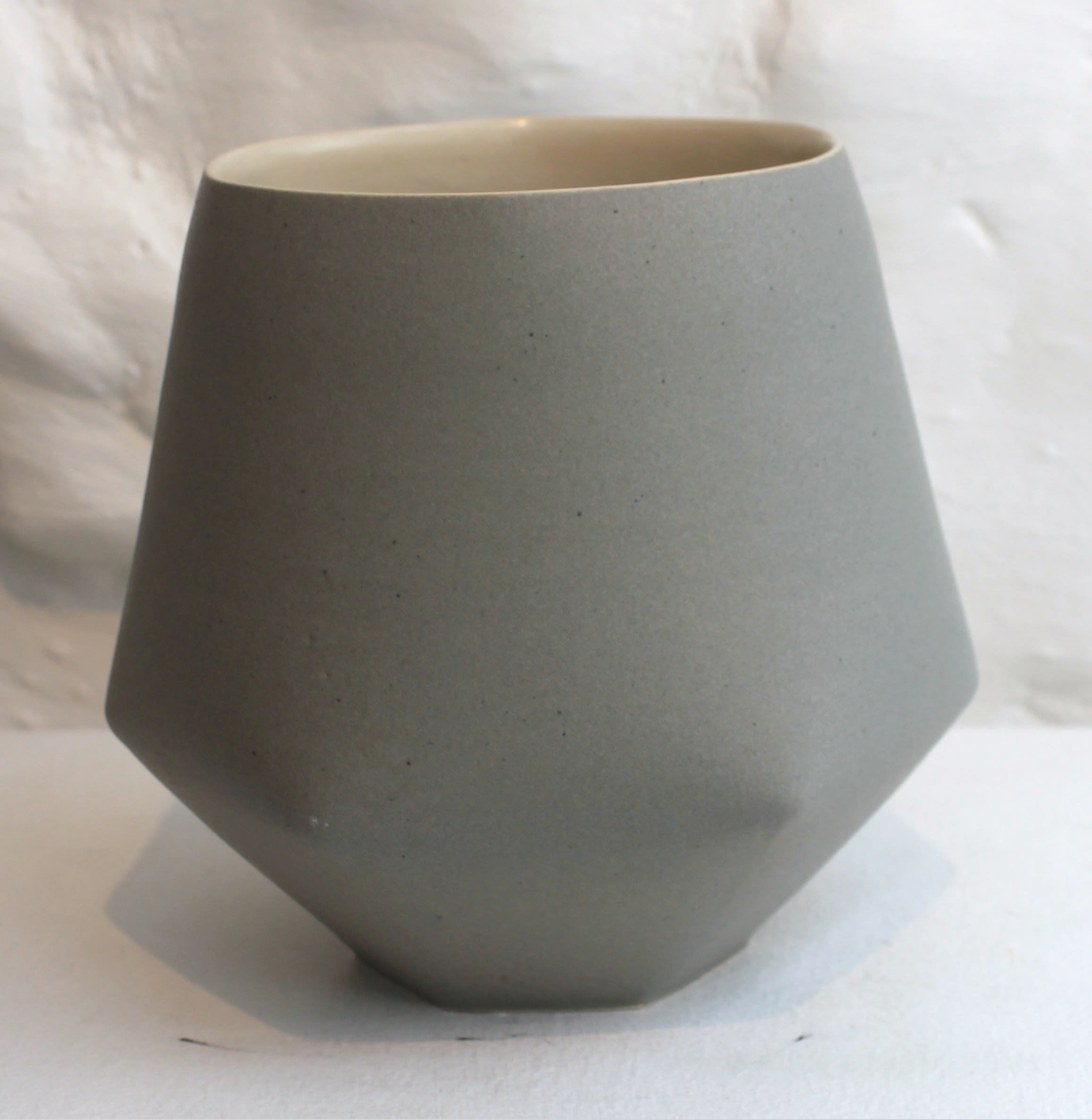 """<span class=""""link fancybox-details-link""""><a href=""""/artists/33-sun-kim/works/5736-sun-kim-large-vase-2018/"""">View Detail Page</a></span><div class=""""artist""""><strong>Sun Kim</strong></div> <div class=""""title""""><em>Large Vase</em>, 2018</div> <div class=""""signed_and_dated"""">stamped by the artist</div> <div class=""""medium"""">Porcelain</div> <div class=""""dimensions"""">18 x 16 x 12 cm<br /> 7 1/8 x 6 1/4 x 4 3/4 inches</div><div class=""""price"""">£400.00</div><div class=""""copyright_line"""">OwnArt: £ 40 x 10 Months, 0% APR</div>"""
