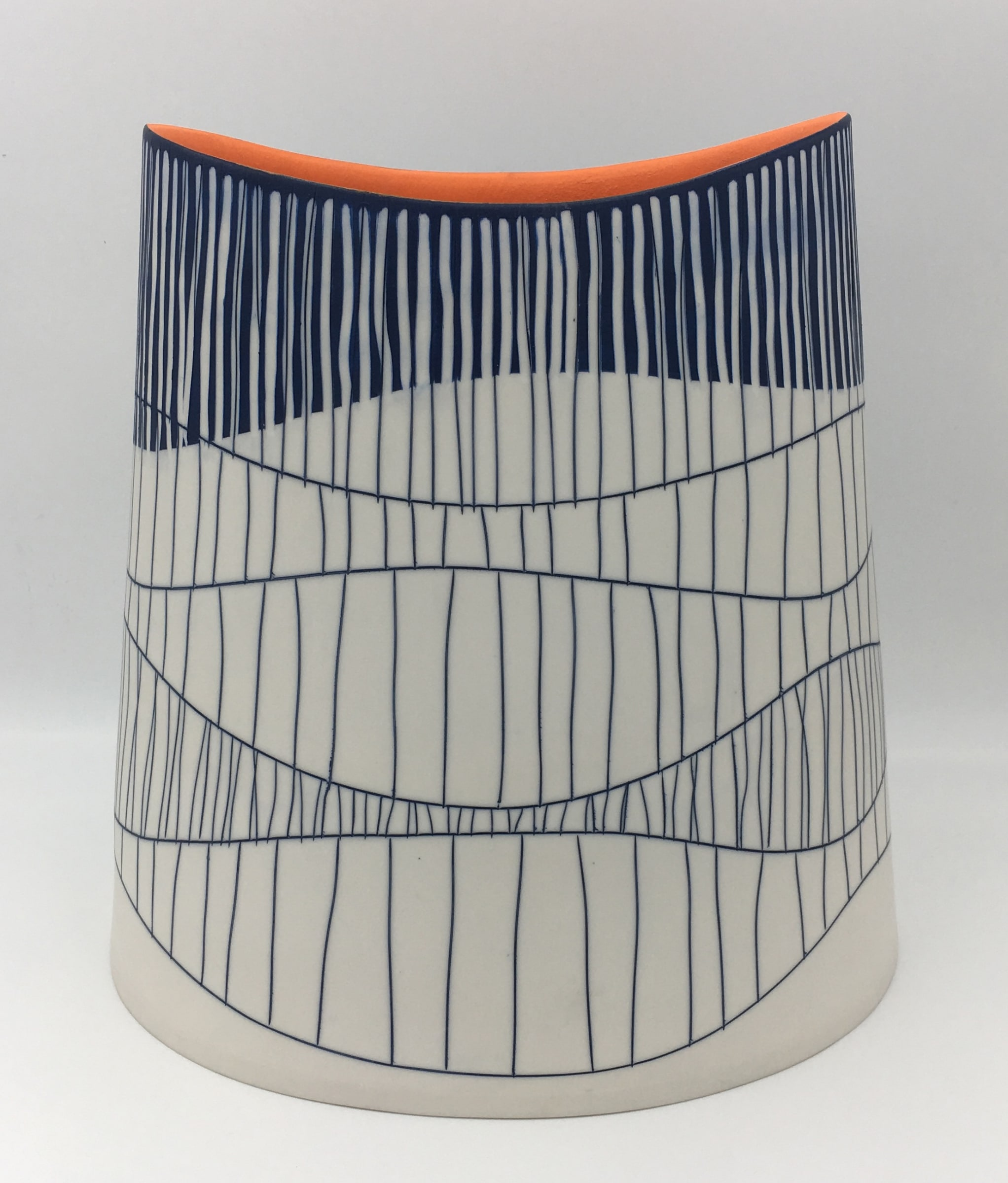 "<span class=""link fancybox-details-link""><a href=""/artists/195-lara-scobie/works/6510-lara-scobie-large-oval-vessel-with-orange-interior-2019/"">View Detail Page</a></span><div class=""artist""><strong>Lara Scobie</strong></div> b. 1967 <div class=""title""><em>Large Oval Vessel with Orange Interior</em>, 2019</div> <div class=""medium"">Porcelain</div><div class=""copyright_line"">Own Art: £95 x 10 Months, 0% APR</div>"