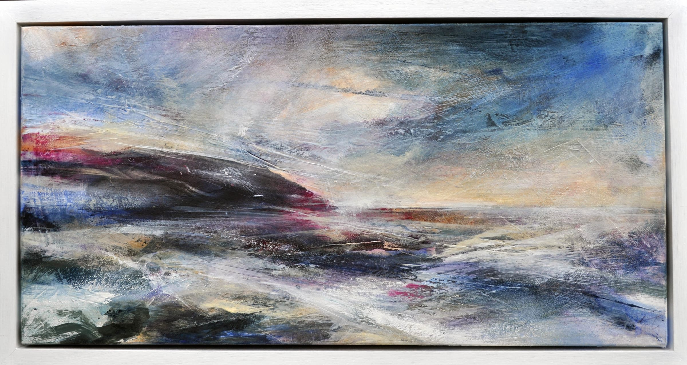 """<span class=""""link fancybox-details-link""""><a href=""""/artists/90-freya-horsley/works/5961-freya-horsley-starting-out-2018/"""">View Detail Page</a></span><div class=""""artist""""><strong>Freya Horsley</strong></div> b. 1979 <div class=""""title""""><em>Starting Out</em>, 2018</div> <div class=""""medium"""">mixed media on canvas</div> <div class=""""dimensions"""">35 x 65 cm framed<br /> 13 3/4 x 25 5/8 inches</div><div class=""""price"""">£750.00</div><div class=""""copyright_line"""">Copyright The Artist</div>"""