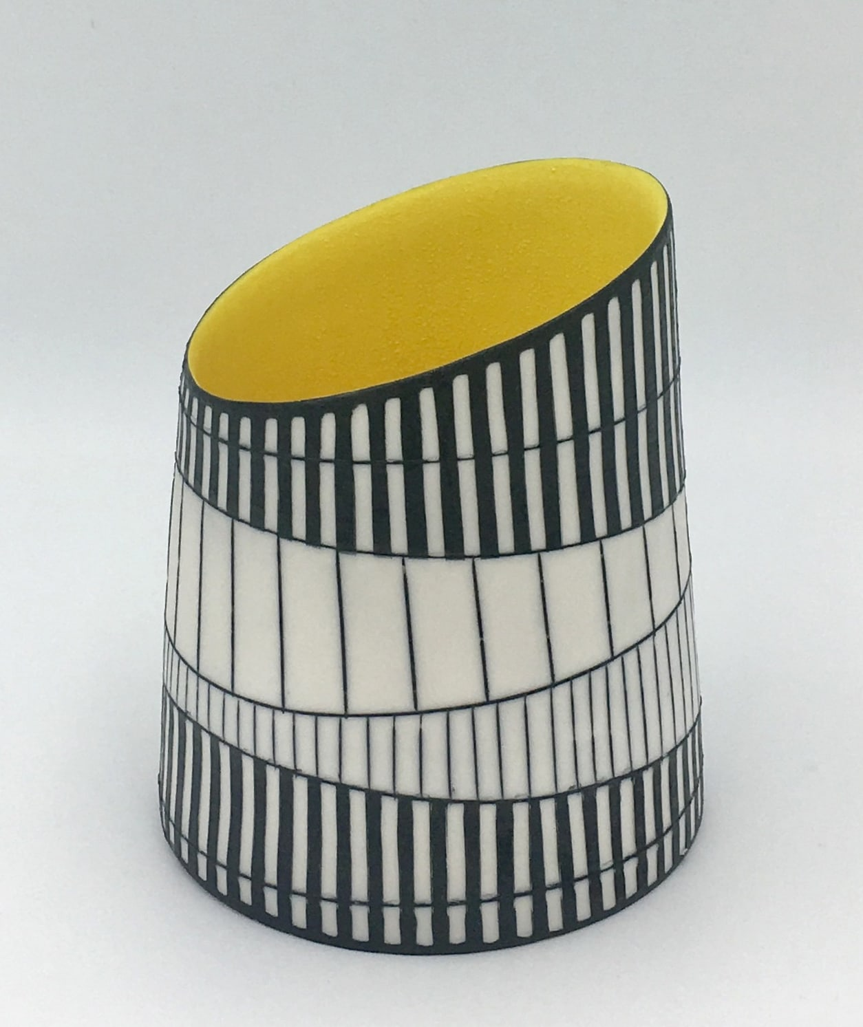 """<span class=""""link fancybox-details-link""""><a href=""""/artists/195-lara-scobie/works/6534-lara-scobie-vessel-with-yellow-interior-2019/"""">View Detail Page</a></span><div class=""""artist""""><strong>Lara Scobie</strong></div> b. 1967 <div class=""""title""""><em>Vessel with Yellow Interior</em>, 2019</div> <div class=""""medium"""">Porcelain</div><div class=""""copyright_line"""">Own Art: £24 x 10 Months, 0% APR</div>"""