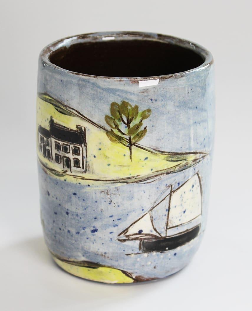 "<span class=""link fancybox-details-link""><a href=""/artists/428-anne-barrell/works/7647-anne-barrell-rum-cup-2021/"">View Detail Page</a></span><div class=""artist""><strong>Anne Barrell</strong></div> <div class=""title""><em>Rum Cup</em>, 2021</div> <div class=""medium"">handmade, handpainted ceramic</div> <div class=""dimensions"">h. 9 x w. 8 cm</div><div class=""price"">£55.00</div><div class=""copyright_line"">Ownart: £5.50 x 10 Months, 0% APR</div>"