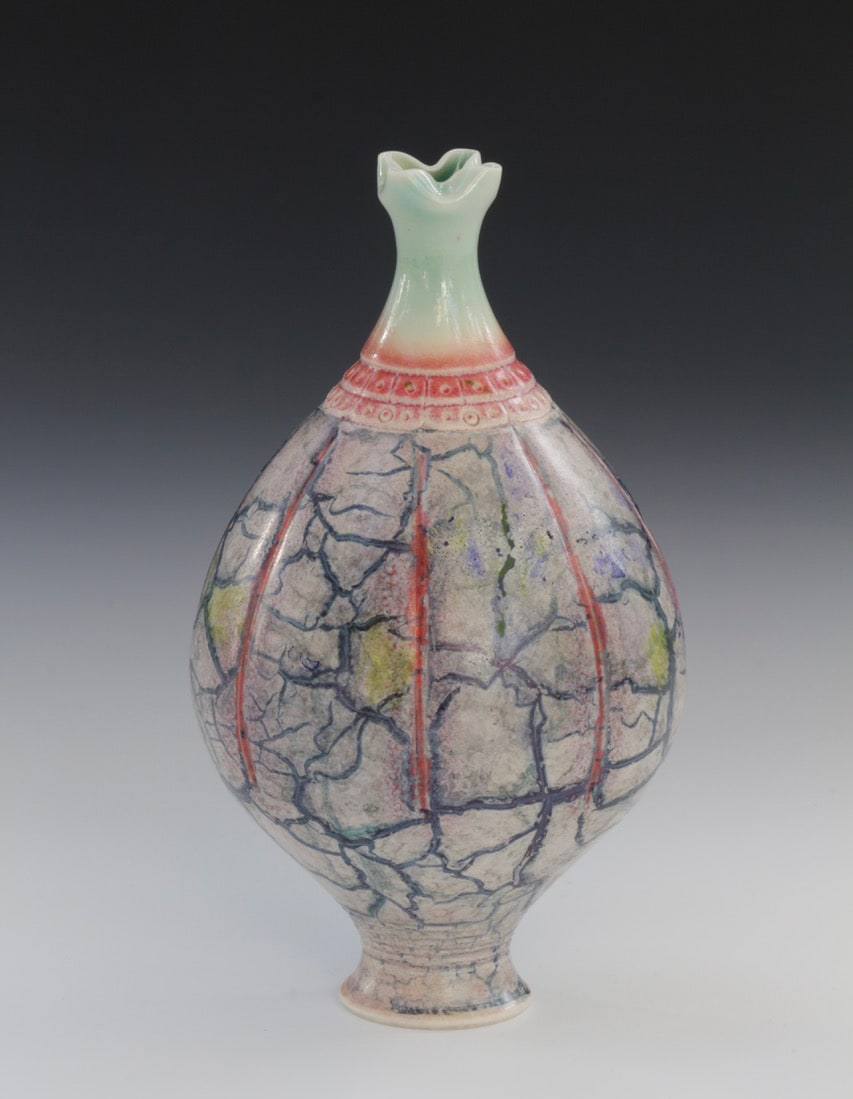 "<span class=""link fancybox-details-link""><a href=""/artists/61-geoffrey-swindell/works/7473-geoffrey-swindell-vessel-2021/"">View Detail Page</a></span><div class=""artist""><strong>Geoffrey Swindell</strong></div> b. 1945 <div class=""title""><em>Vessel</em>, 2021</div> <div class=""signed_and_dated"">impressed artist's seal to base</div> <div class=""medium"">Porcelain</div> <div class=""dimensions"">h. 13 cm</div><div class=""price"">£250.00</div><div class=""copyright_line"">Own Art: £25 x 10 months, 0% APR</div>"