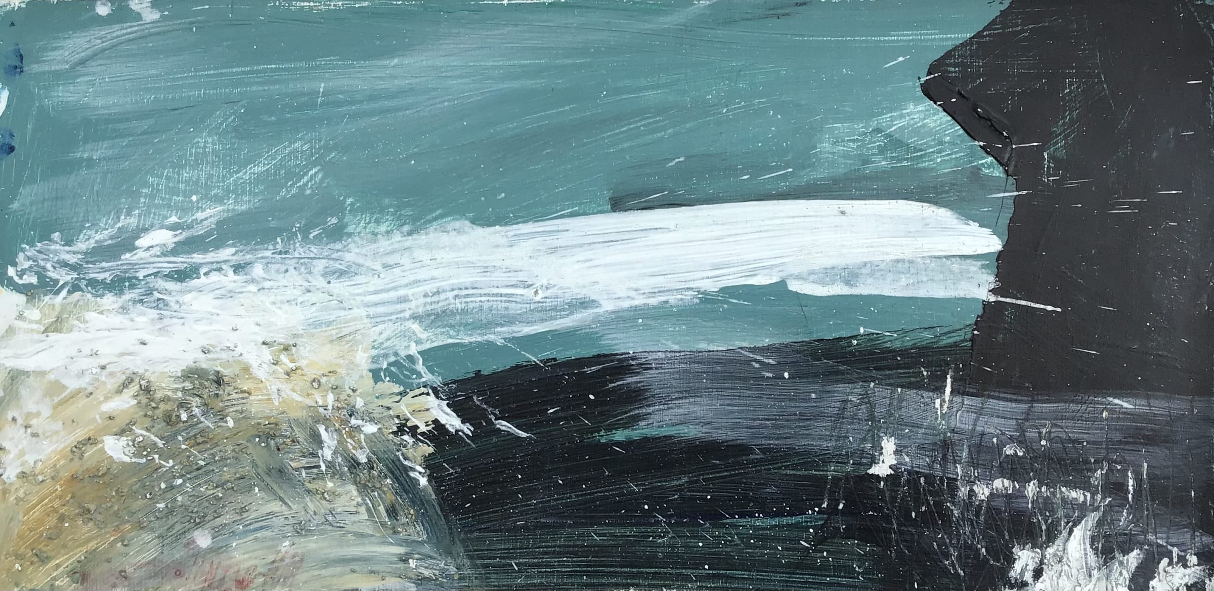 """<span class=""""link fancybox-details-link""""><a href=""""/artists/72-craig-underhill/works/7612-craig-underhill-godrevy-tide-rising-2021/"""">View Detail Page</a></span><div class=""""artist""""><strong>Craig Underhill</strong></div> <div class=""""title""""><em>Godrevy - Tide Rising</em>, 2021</div> <div class=""""medium"""">mixed media on board</div> <div class=""""dimensions"""">board size: h. 20 x w. 40 cm<br /> frame size: h. 25 x 44 cm</div><div class=""""copyright_line"""">Ownart: £39.50 x 10 Months, 0% APR</div>"""