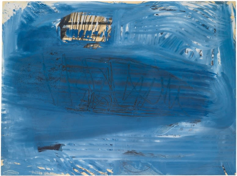 "<span class=""link fancybox-details-link""><a href=""/artists/46-peter-lanyon/works/1555-peter-lanyon-surfacing-1958/"">View Detail Page</a></span><div class=""artist""><strong>Peter Lanyon</strong></div> 1918–1964 <div class=""title""><em>Surfacing</em>, 1958</div> <div class=""signed_and_dated"">signed and dated 58</div> <div class=""medium"">gouache and charcoal on paper</div> <div class=""dimensions"">56 x 76 cm</div><div class=""copyright_line"">@ The Estate of Peter Lanyon</div>"