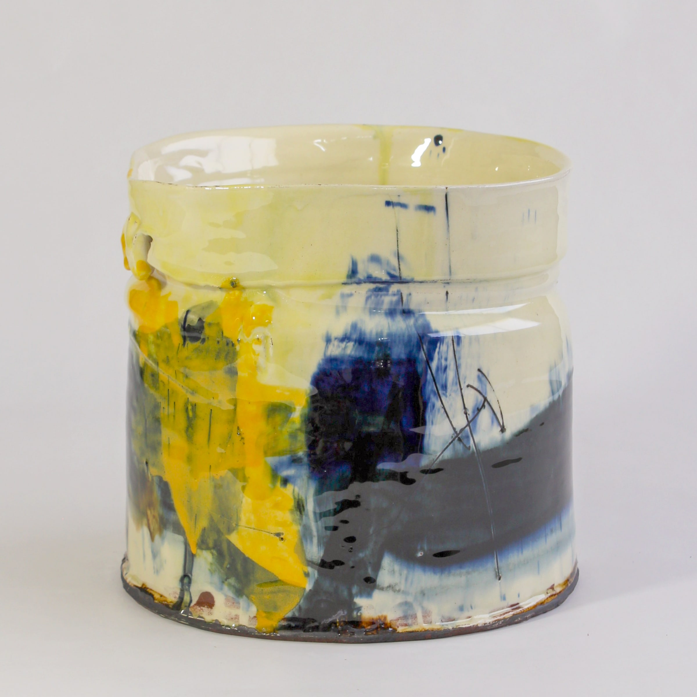 """<span class=""""link fancybox-details-link""""><a href=""""/artists/34-barry-stedman/works/7813-barry-stedman-thrown-altered-vessel-2021/"""">View Detail Page</a></span><div class=""""artist""""><strong>Barry Stedman</strong></div> <div class=""""title""""><em>Thrown altered Vessel </em>, 2021</div> <div class=""""medium"""">thrown and altered earthenware, decorated with slips</div> <div class=""""dimensions"""">18 x 21 cm</div><div class=""""price"""">£363.00</div><div class=""""copyright_line"""">Own Art: £36.30 x 10 Months, 0% APR</div>"""