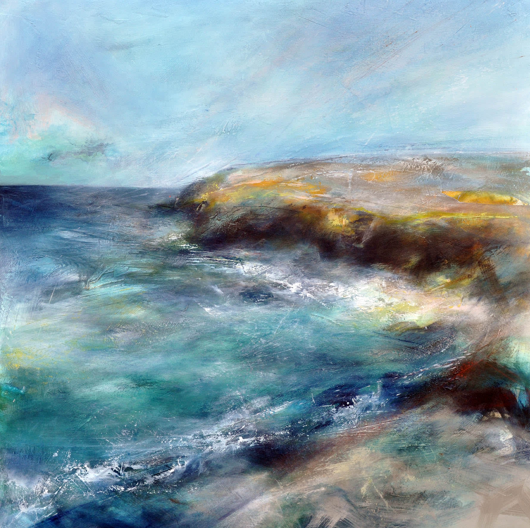 """<span class=""""link fancybox-details-link""""><a href=""""/artists/90-freya-horsley/works/7039-freya-horsley-plunging-2020/"""">View Detail Page</a></span><div class=""""artist""""><strong>Freya Horsley</strong></div> b. 1979 <div class=""""title""""><em>Plunging </em>, 2020 </div> <div class=""""medium"""">mixed media on canvas</div> <div class=""""dimensions"""">h. 100 x w. 100 cm </div><div class=""""price"""">£2,200.00</div>"""