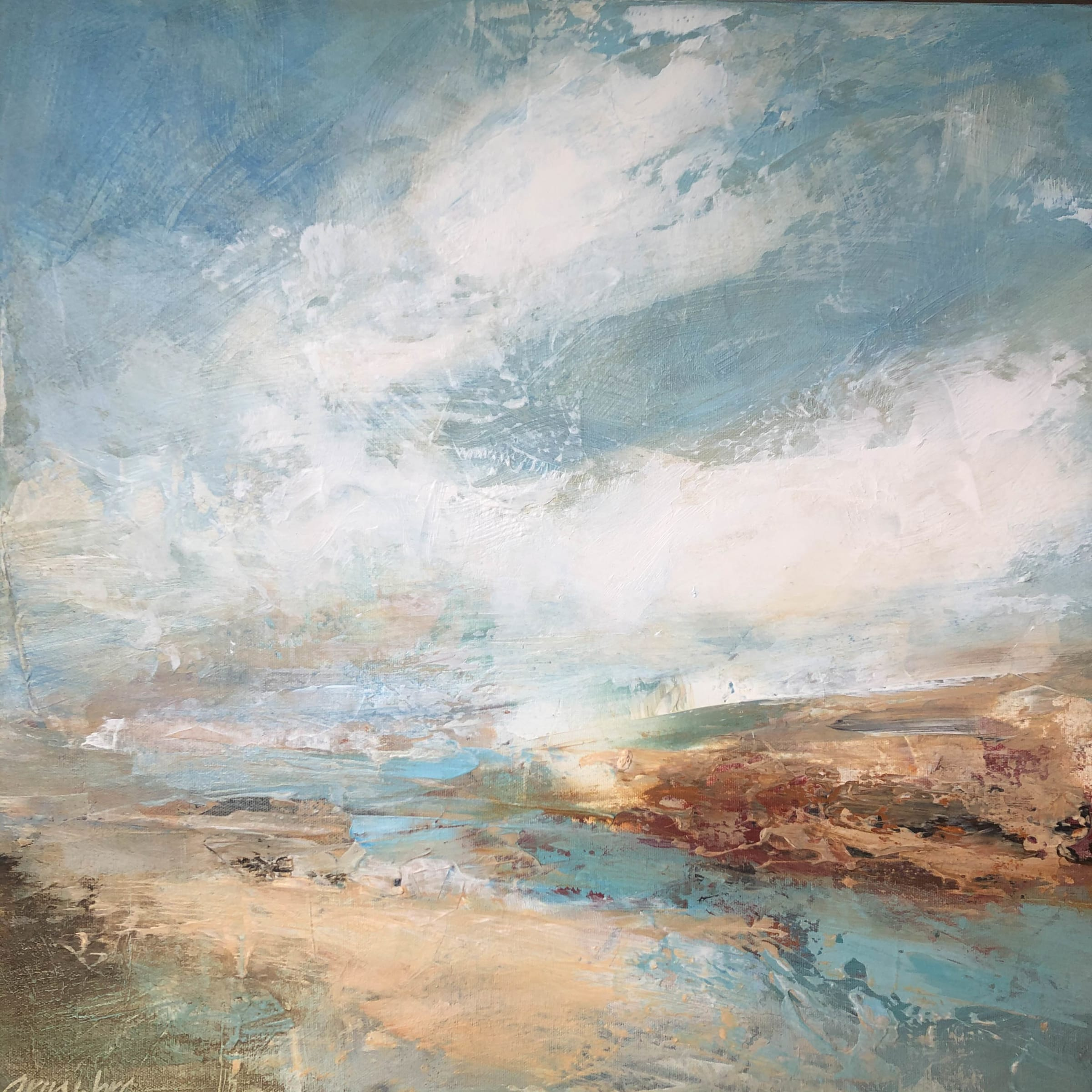 "<span class=""link fancybox-details-link""><a href=""/artists/41-erin-ward/works/7227-erin-ward-summer-sky-2020/"">View Detail Page</a></span><div class=""artist""><strong>Erin Ward</strong></div> b. 1966 <div class=""title""><em>Summer Sky </em>, 2020</div> <div class=""medium"">acrylic on canvas</div> <div class=""dimensions"">h. 52 cm x w. 52 cm</div><div class=""price"">£1,090.00</div><div class=""copyright_line"">Ownart: £109 x 10 Months, 0% APR</div>"