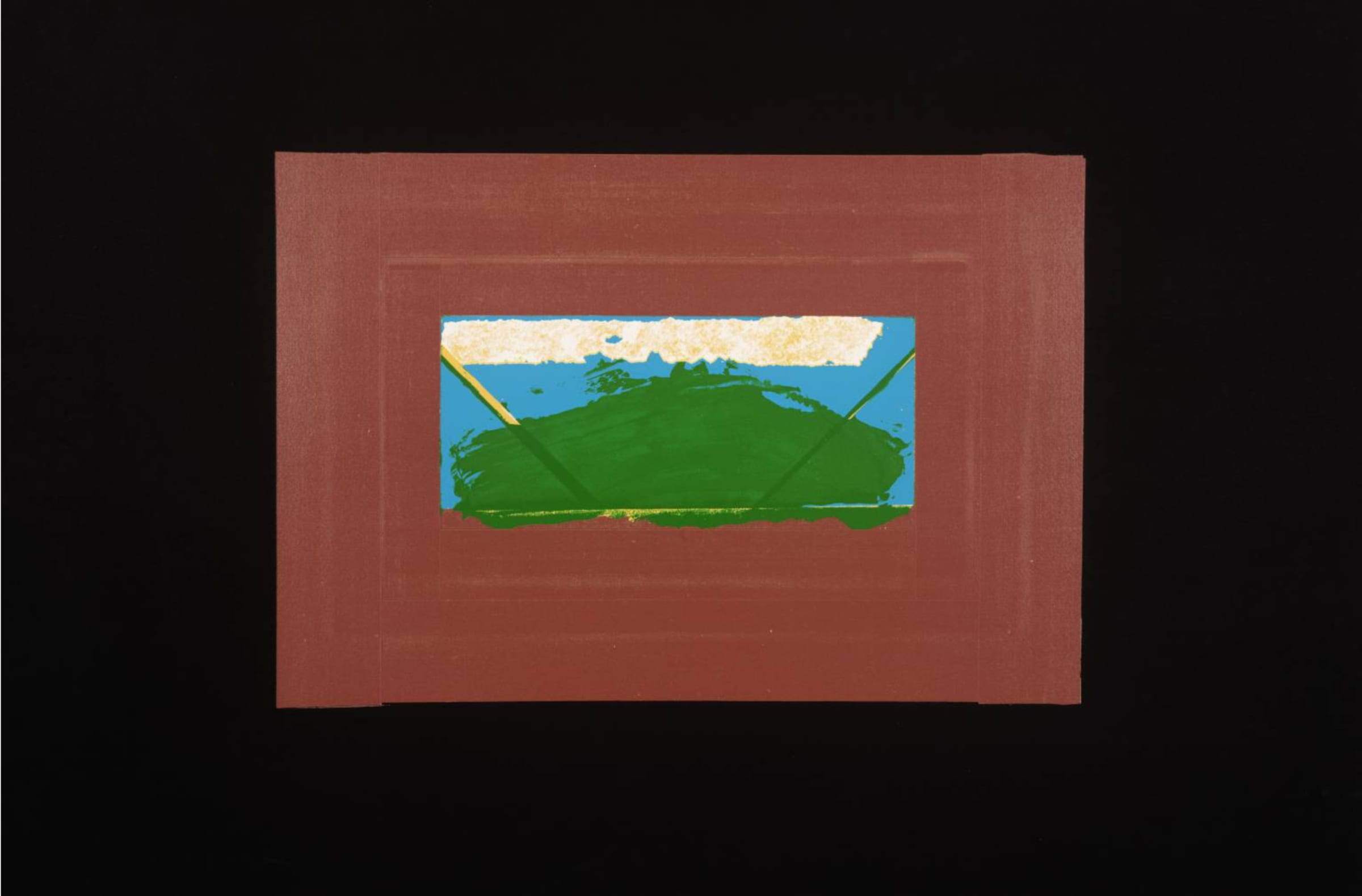 "<span class=""link fancybox-details-link""><a href=""/artists/163-howard-hodgkin-ch-cbe/works/4063-howard-hodgkin-ch-cbe-indian-view-g-1971/"">View Detail Page</a></span><div class=""artist""><strong>Howard Hodgkin CH CBE</strong></div> 1932 – 2017 <div class=""title""><em>Indian View G</em>, 1971</div> <div class=""signed_and_dated"">signed and dated in pencil</div> <div class=""medium"">silkscreen print</div> <div class=""dimensions"">image size: 57 x 77 cm<br /> frame size: 63 x 82 cm</div> <div class=""edition_details"">Edition 5 of 75</div><div class=""copyright_line"">@ The Estate of Howard Hodgkin</div>"