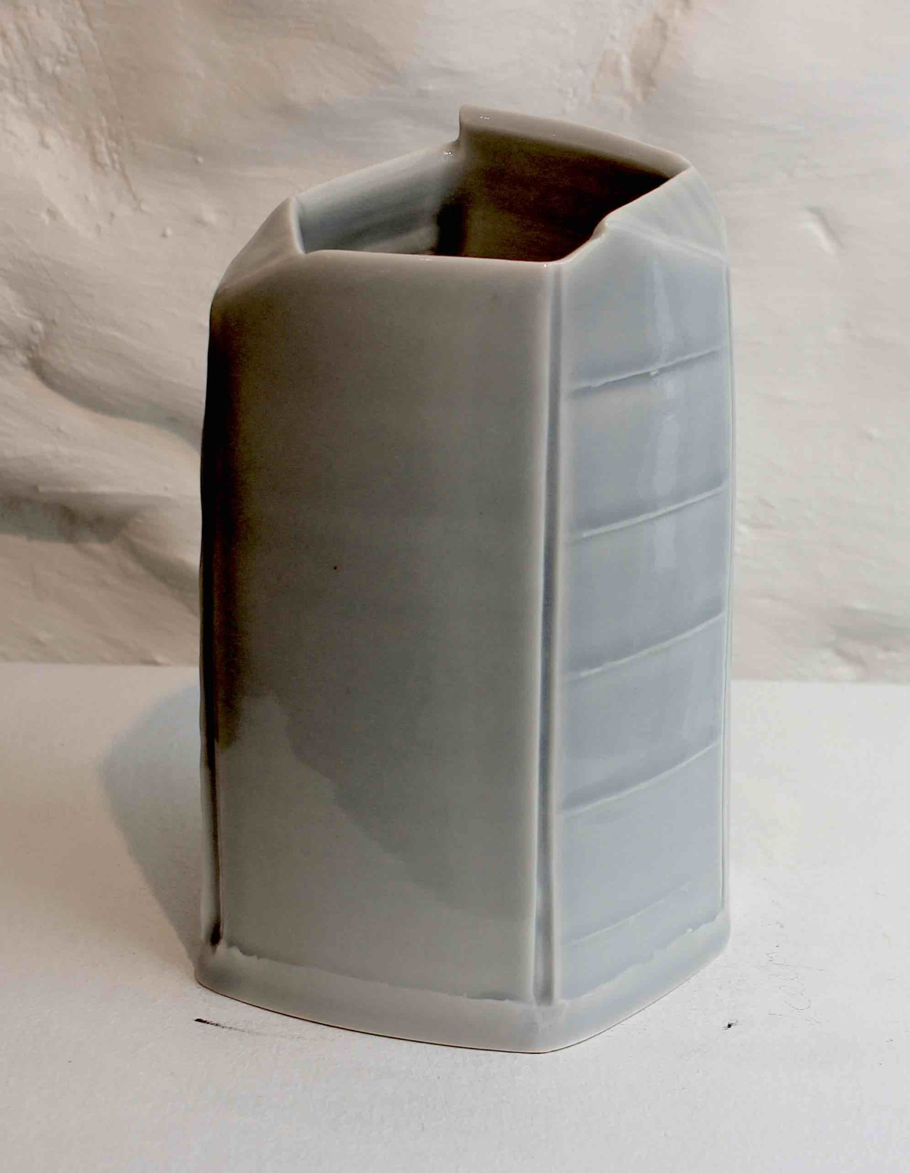 """<span class=""""link fancybox-details-link""""><a href=""""/artists/99-carina-ciscato/works/5760-carina-ciscato-pale-blue-small-vase-2018/"""">View Detail Page</a></span><div class=""""artist""""><strong>Carina Ciscato</strong></div> b. 1970 <div class=""""title""""><em>Pale Blue Small Vase</em>, 2018</div> <div class=""""signed_and_dated"""">porcelain</div> <div class=""""medium"""">porcelain</div> <div class=""""dimensions"""">15 x 9 cm<br /> 5 7/8 x 3 1/2 inches</div><div class=""""price"""">£500.00</div><div class=""""copyright_line"""">OwnArt: £ 50 x 10 Months, 0% APR</div>"""