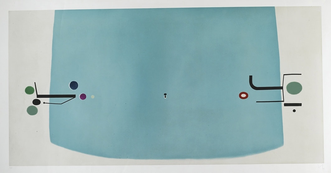 """<span class=""""link fancybox-details-link""""><a href=""""/artists/84-victor-pasmore-ch-cbe/works/2344-victor-pasmore-ch-cbe-the-space-within-1982/"""">View Detail Page</a></span><div class=""""artist""""><strong>Victor Pasmore CH CBE</strong></div> 1908–1998 <div class=""""title""""><em>The Space Within</em>, 1982</div> <div class=""""signed_and_dated"""">signed, dated and numbered 75/90 in pencil to the margin</div> <div class=""""medium"""">etching and aquatint in colours on wove paper</div> <div class=""""dimensions"""">plate size: 98.5 x 197.5 cm<br /> sheet size: 119 x 247.5 cm</div> <div class=""""edition_details"""">75/90, aside from 15 Artist's Proofs</div><div class=""""copyright_line"""">© The Estate of Victor Pasmore</div>"""