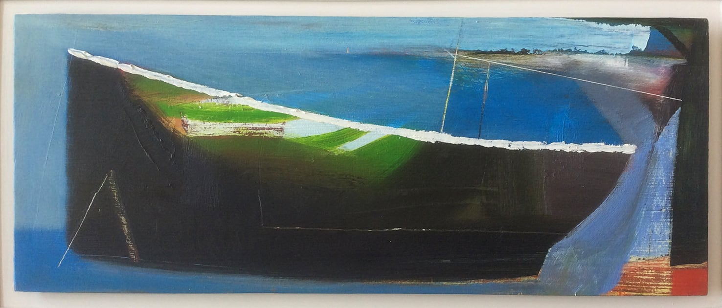 """<span class=""""link fancybox-details-link""""><a href=""""/artists/45-matthew-lanyon/works/5904-matthew-lanyon-low-tide-iii-2006/"""">View Detail Page</a></span><div class=""""artist""""><strong>Matthew Lanyon</strong></div> 1951-2016 <div class=""""title""""><em>Low Tide III</em>, 2006</div> <div class=""""signed_and_dated"""">signed, titled and dated to reverse</div> <div class=""""medium"""">oil on board</div> <div class=""""dimensions"""">h 19.1 x w 48.9 cm<br /> 7 1/2 x 19 1/4 in</div><div class=""""copyright_line"""">© The Estate of Matthew Lanyon</div>"""
