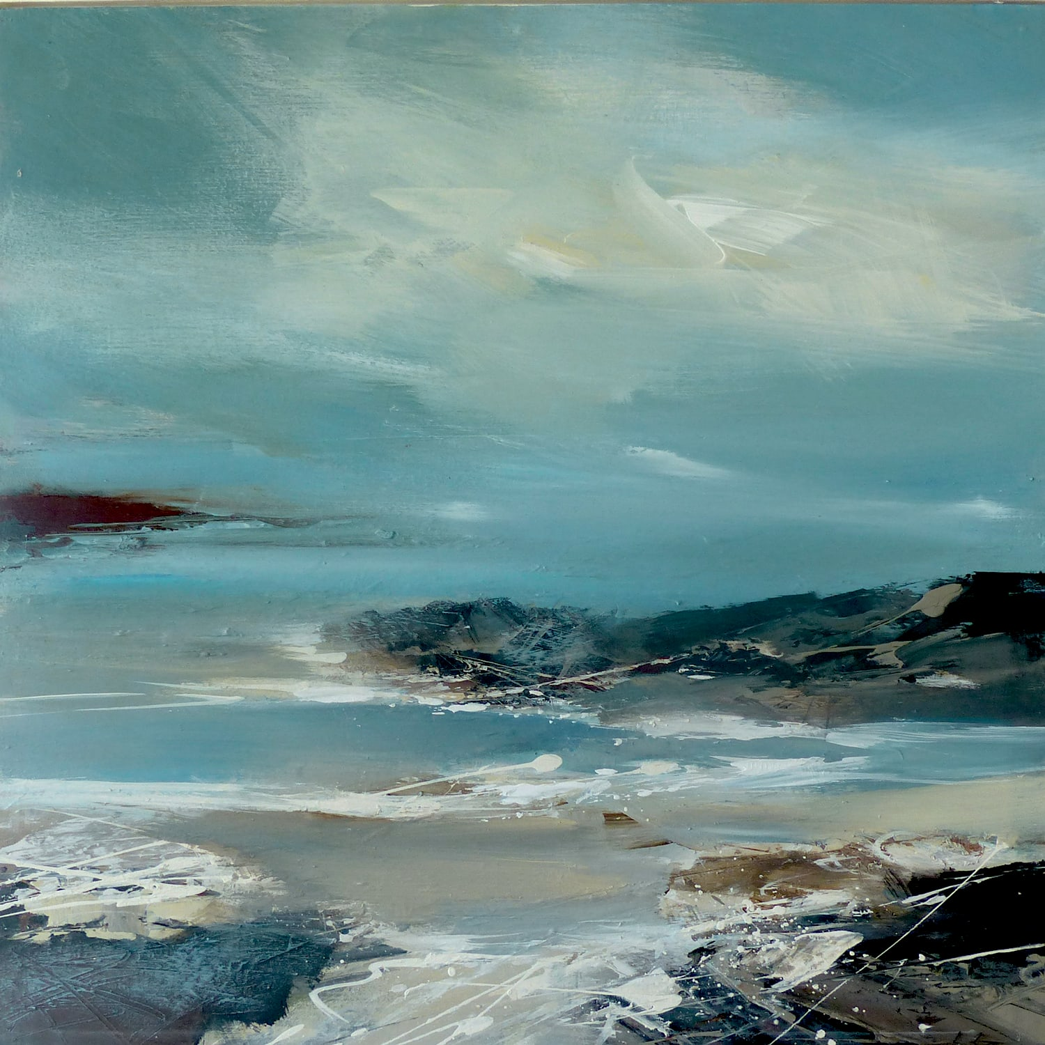 """<span class=""""link fancybox-details-link""""><a href=""""/store/artworks/7946-jenny-hirst-end-of-the-day-2021/"""">View Detail Page</a></span><div class=""""artist""""><strong>Jenny Hirst</strong></div> <div class=""""title""""><em>End of the Day</em>, 2021</div> <div class=""""medium"""">acrylic on panel with broad white frame</div> <div class=""""dimensions"""">h. 40 cm x w. 40 cm <br /> Framed size: h. 50 cm x w. 50 cm </div><div class=""""price"""">£700.00</div><div class=""""copyright_line"""">Own Art: £70 x 10 months, 0% APR</div>"""