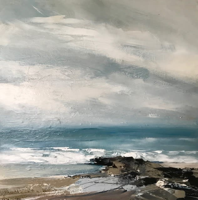 """<span class=""""link fancybox-details-link""""><a href=""""/artists/92-jenny-hirst/works/7580-jenny-hirst-gwithian-rocks-2021/"""">View Detail Page</a></span><div class=""""artist""""><strong>Jenny Hirst</strong></div> <div class=""""title""""><em>Gwithian Rocks</em>, 2021</div> <div class=""""medium"""">acrylic on aluminium panel</div> <div class=""""dimensions"""">50 x 50 cm<br /> 19 3/4 x 19 3/4 inches</div><div class=""""copyright_line"""">Own Art: £85 x 10 months, 0% APR</div>"""
