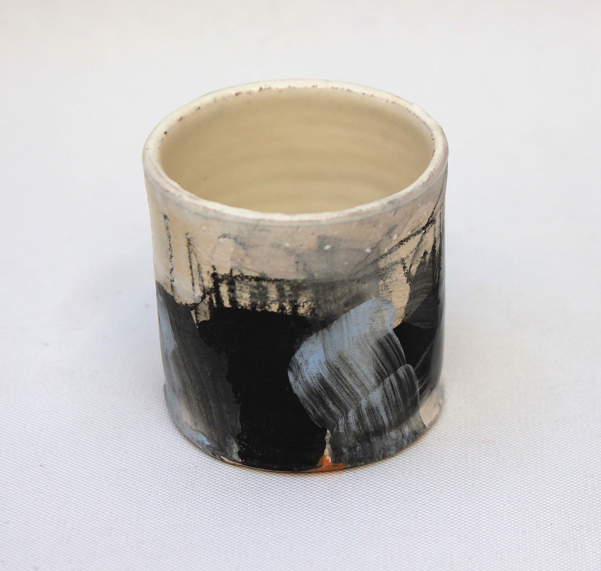 """<span class=""""link fancybox-details-link""""><a href=""""/artists/34-barry-stedman/works/4152-barry-stedman-thrown-vessel-coast-series-2017/"""">View Detail Page</a></span><div class=""""artist""""><strong>Barry Stedman</strong></div> b. 1965 <div class=""""title""""><em>Thrown Vessel 'Coast' Series</em>, 2017</div> <div class=""""signed_and_dated"""">signed by artist</div> <div class=""""medium"""">thrown and altered earthenware, decorated with slips</div> <div class=""""dimensions"""">6 x 5 cm<br /> 2 3/8 x 2 inches</div><div class=""""price"""">£90.00</div>"""