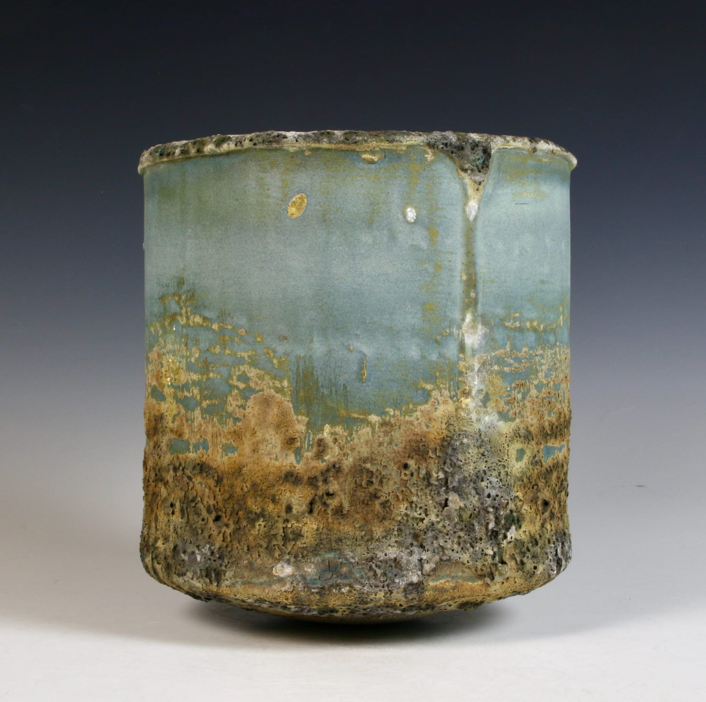 """<span class=""""link fancybox-details-link""""><a href=""""/content/feature/40/artworks8001/"""">View Detail Page</a></span><div class=""""signed_and_dated"""">impressed seal mark 'PW'</div> <div class=""""medium"""">stoneware, multiple slips and glazes</div> <div class=""""dimensions"""">16 x 15 cm</div>"""