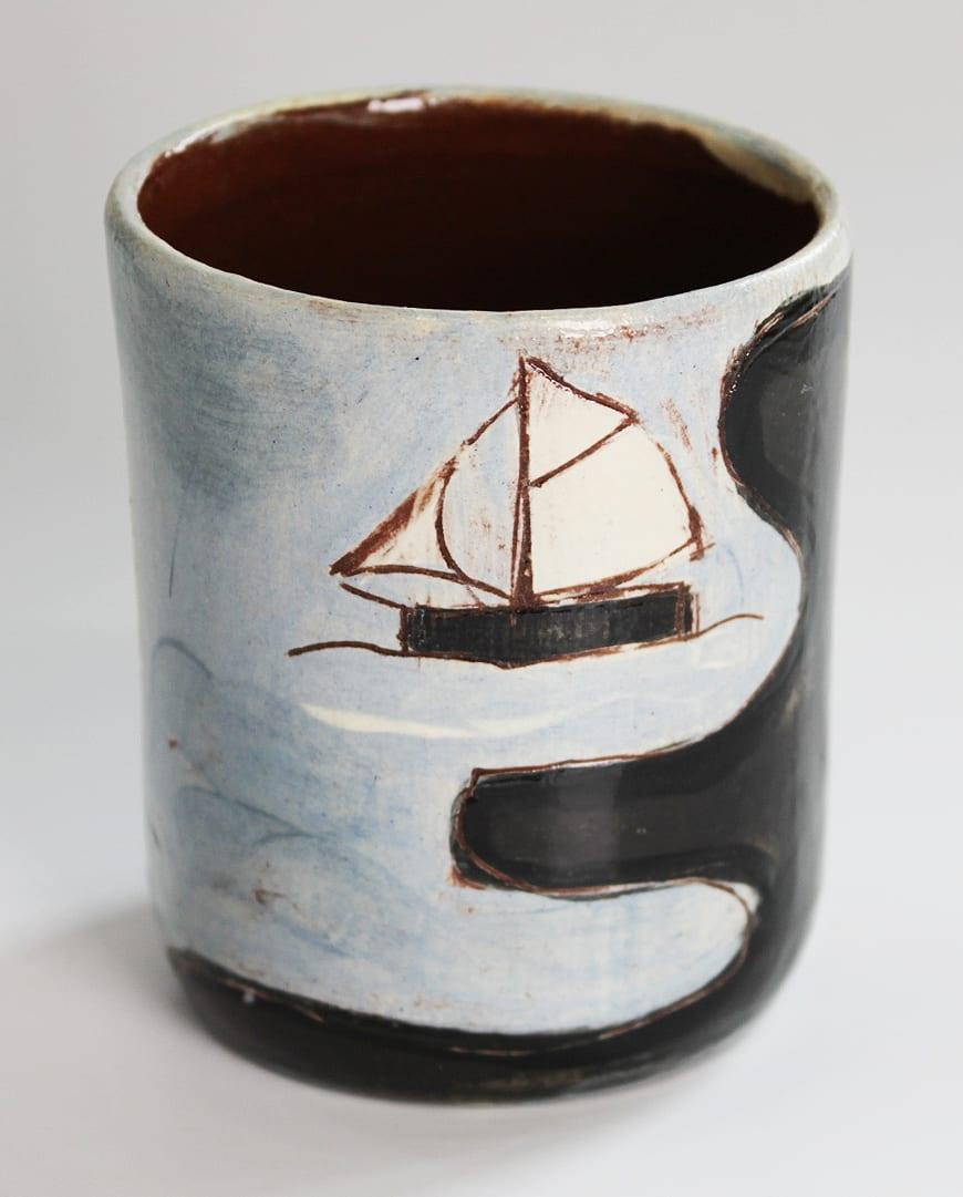 "<span class=""link fancybox-details-link""><a href=""/artists/428-anne-barrell/works/7649-anne-barrell-rum-cup-2021/"">View Detail Page</a></span><div class=""artist""><strong>Anne Barrell</strong></div> <div class=""title""><em>Rum Cup</em>, 2021</div> <div class=""medium"">handmade, handpainted ceramic</div> <div class=""dimensions"">h. 9 x w. 8 cm</div><div class=""price"">£55.00</div><div class=""copyright_line"">Ownart: £5.50 x 10 Months, 0% APR</div>"