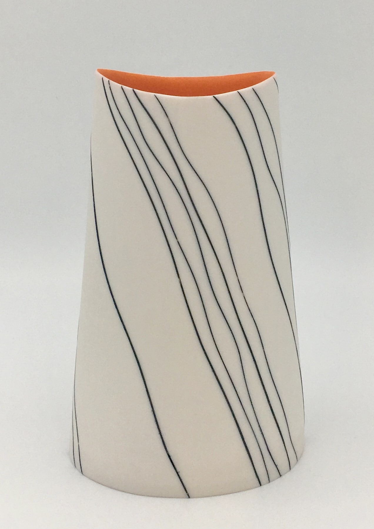 "<span class=""link fancybox-details-link""><a href=""/artists/195-lara-scobie/works/6527-lara-scobie-oval-vase-with-wave-stripes-2019/"">View Detail Page</a></span><div class=""artist""><strong>Lara Scobie</strong></div> b. 1967 <div class=""title""><em>Oval Vase with Wave Stripes</em>, 2019</div> <div class=""medium"">Porcelain</div><div class=""copyright_line"">Own Art: £24 x 10 Months, 0% APR</div>"