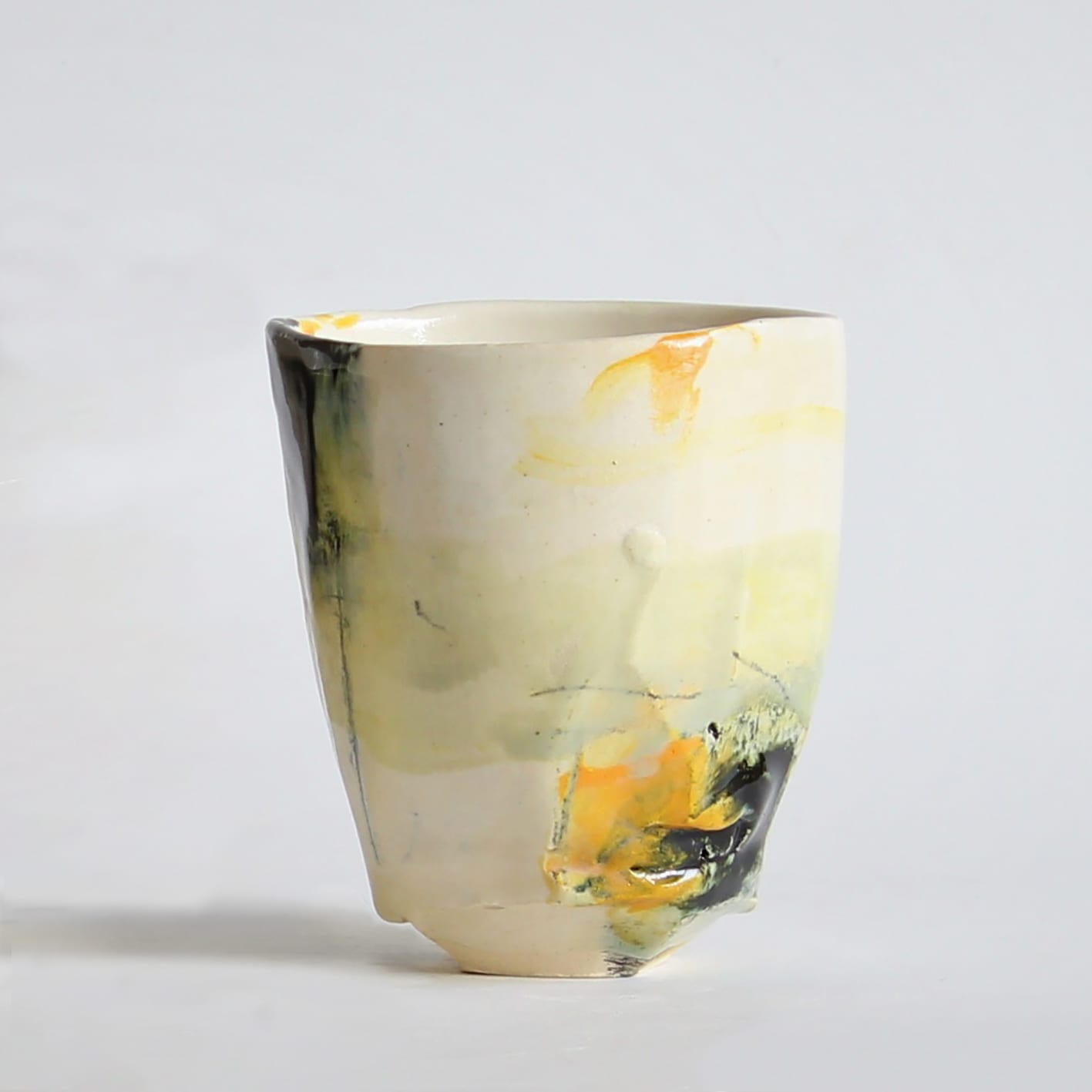 """<span class=""""link fancybox-details-link""""><a href=""""/artists/34-barry-stedman/works/6735-barry-stedman-each-passing-day-series-vessel-i-2019/"""">View Detail Page</a></span><div class=""""artist""""><strong>Barry Stedman</strong></div> b. 1965 <div class=""""title""""><em>'Each Passing Day' Series Vessel (I)</em>, 2019</div> <div class=""""medium"""">thrown and altered earthenware, decorated with slips</div> <div class=""""dimensions"""">10 x 8 cm</div><div class=""""copyright_line"""">Own Art: £ 12.50 x 10 Months, 0% APR</div>"""