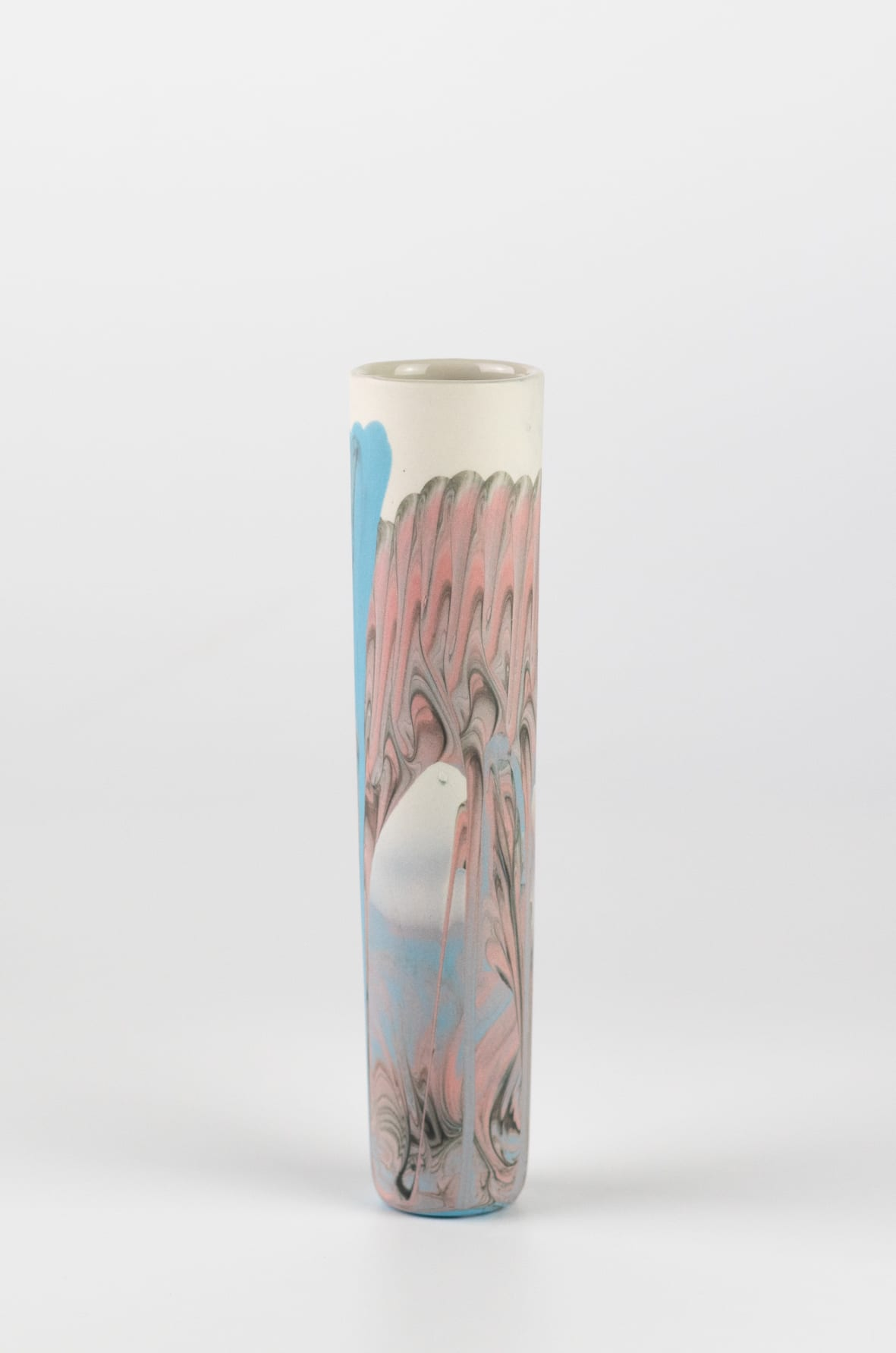 """<span class=""""link fancybox-details-link""""><a href=""""/artists/219-james-pegg/works/6577-james-pegg-boubouki-budvase-2019/"""">View Detail Page</a></span><div class=""""artist""""><strong>James Pegg</strong></div> <div class=""""title""""><em>Boubouki Budvase</em>, 2019</div> <div class=""""medium"""">action-cast stained porcelain with glazed interior</div><div class=""""price"""">£42.00</div>"""