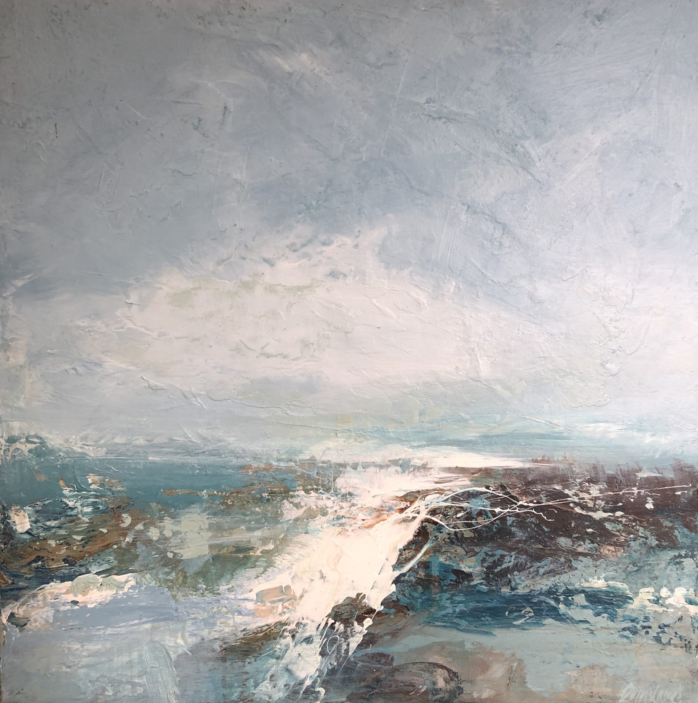 "<span class=""link fancybox-details-link""><a href=""/artists/41-erin-ward/works/6490-erin-ward-evening-sea-2019/"">View Detail Page</a></span><div class=""artist""><strong>Erin Ward</strong></div> b. 1966 <div class=""title""><em>Evening Sea</em>, 2019</div> <div class=""signed_and_dated"">Signed, titled and dated</div> <div class=""medium"">acrylic on canvas</div> <div class=""dimensions"">20 x 20 inches</div><div class=""price"">£1,080.00</div><div class=""copyright_line"">Copyright The Artist</div>"