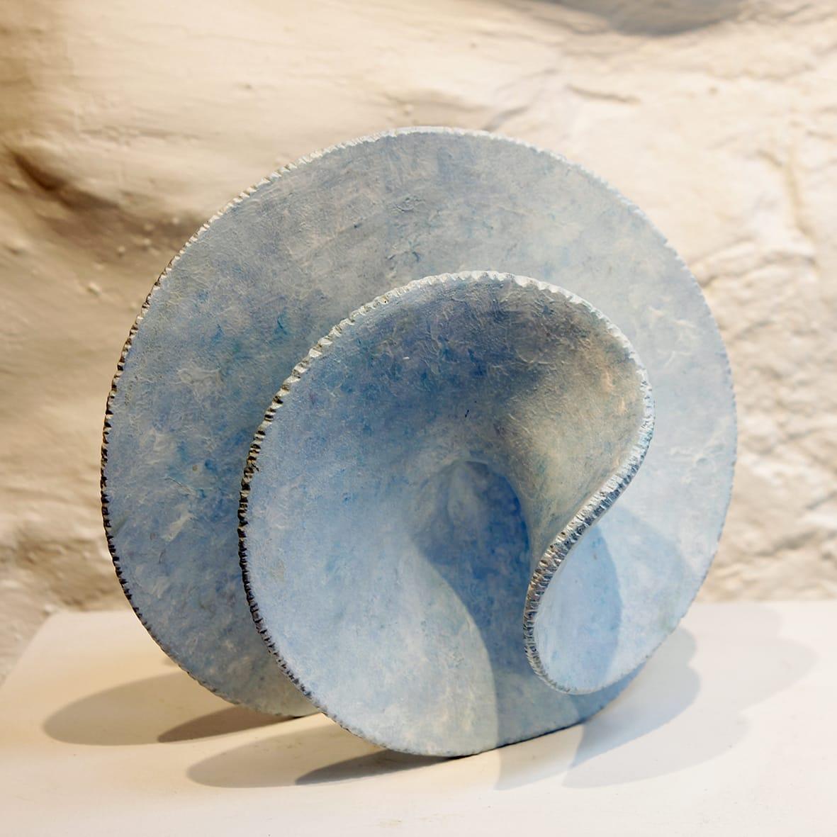 "<span class=""link fancybox-details-link""><a href=""/artists/38-antonia-salmon/works/6052-antonia-salmon-surf-riffle-2018/"">View Detail Page</a></span><div class=""artist""><strong>Antonia Salmon</strong></div> b. 1959 <div class=""title""><em>Surf Riffle</em>, 2018</div> <div class=""signed_and_dated"">stamped AS</div> <div class=""medium"">ceramic</div> <div class=""dimensions"">h 19cm</div><div class=""copyright_line"">Copyright The Artist</div>"