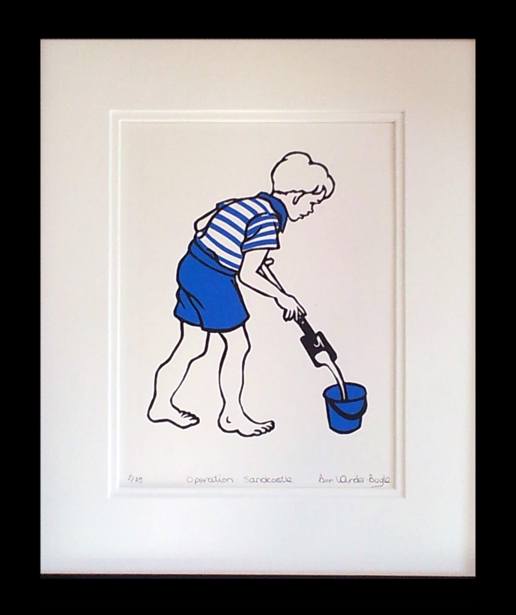 "<span class=""link fancybox-details-link""><a href=""/artists/37-ann-winder-boyle/works/96-ann-winder-boyle-operation-sandcastle-2014/"">View Detail Page</a></span><div class=""artist""><strong>Ann Winder-Boyle</strong></div> b. 1963 <div class=""title""><em>Operation Sandcastle</em>, 2014</div> <div class=""signed_and_dated"">signed, titled and numbered in pencil</div> <div class=""medium"">linocut on paper</div> <div class=""dimensions"">20 x 15 cm</div> <div class=""edition_details"">edition of 75</div><div class=""price"">£125.00</div>"