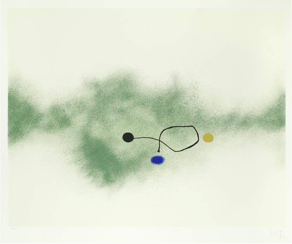 """<span class=""""link fancybox-details-link""""><a href=""""/artists/84-victor-pasmore-ch-cbe/works/5722-victor-pasmore-ch-cbe-milky-way-lynton-g.33-1986/"""">View Detail Page</a></span><div class=""""artist""""><strong>Victor Pasmore CH CBE</strong></div> 1908–1998 <div class=""""title""""><em>Milky Way (Lynton G.33) </em>, 1986</div> <div class=""""signed_and_dated"""">signed, dated, and numbered in pencil recto, titled verso</div> <div class=""""medium"""">silkscreen print in colours on Arches wove paper with full margins</div> <div class=""""dimensions"""">image size: 59.5 x 73 cm <br /> sheet size: 74.6 x 93.3 cm<br /> frame size: 86 x 105 cm</div> <div class=""""edition_details"""">edition number 32 of 70</div><div class=""""copyright_line"""">© The Estate of Victor Pasmore</div>"""