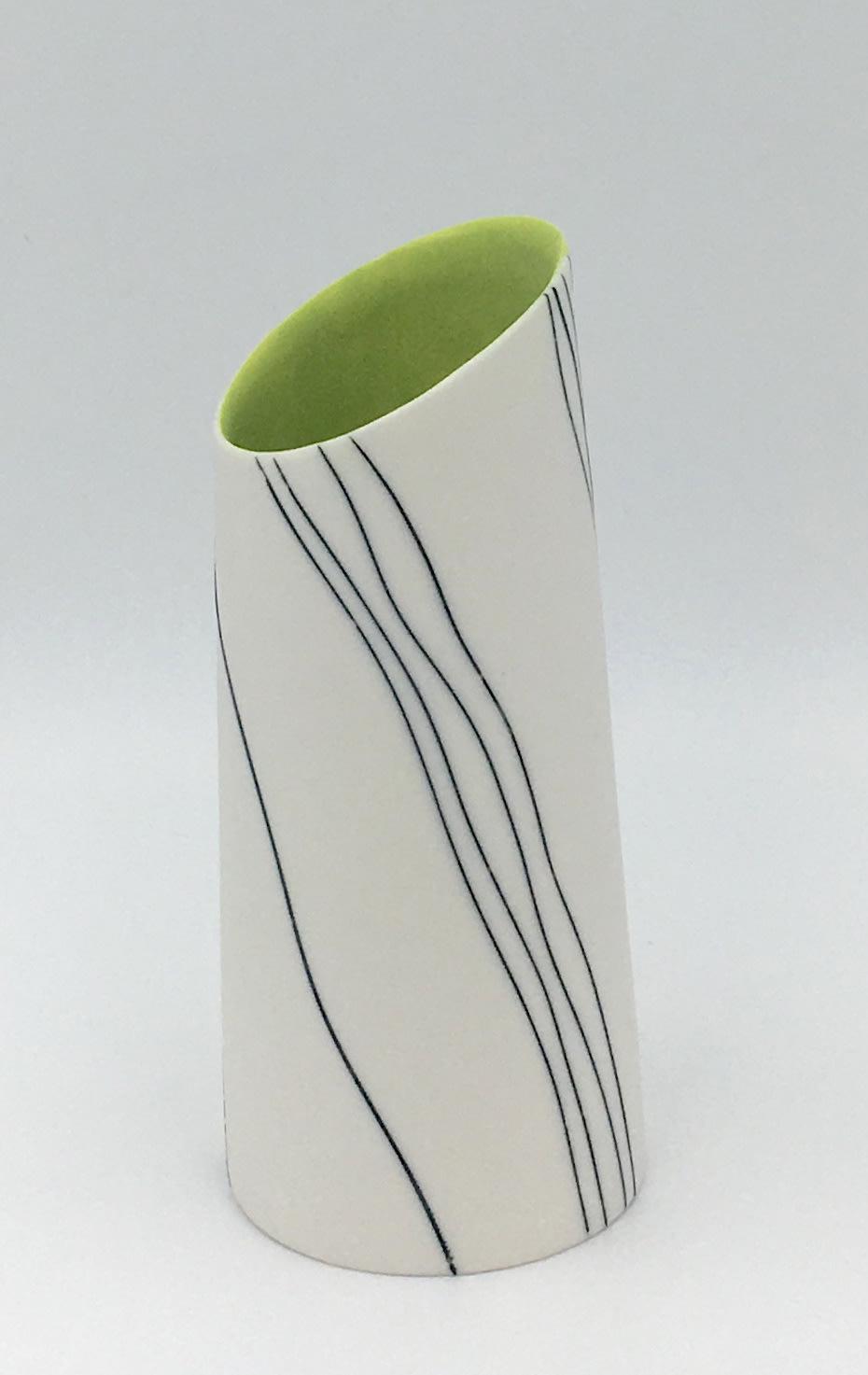 "<span class=""link fancybox-details-link""><a href=""/artists/195-lara-scobie/works/6533-lara-scobie-vase-with-tilted-rim-2019/"">View Detail Page</a></span><div class=""artist""><strong>Lara Scobie</strong></div> b. 1967 <div class=""title""><em>Vase with Tilted Rim</em>, 2019</div> <div class=""medium"">Porcelain</div>"