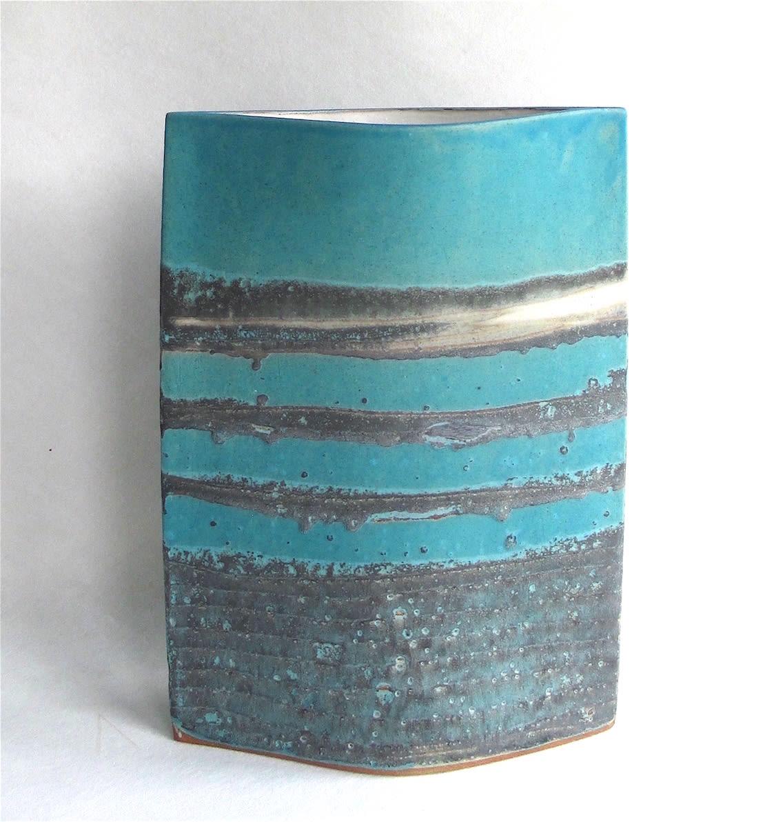 "<span class=""link fancybox-details-link""><a href=""/artists/44-sarah-perry/works/7441-sarah-perry-blue-water-ellipse-2020/"">View Detail Page</a></span><div class=""artist""><strong>Sarah Perry</strong></div> b. 1945 <div class=""title""><em>Blue Water Ellipse</em>, 2020</div> <div class=""medium"">Stoneware<br /> Impressed with the artist's seal 'SP'</div> <div class=""dimensions"">h. 29.5 cm x w. 21 cm x d. 7.5 cm</div><div class=""price"">£315.00</div><div class=""copyright_line"">Own Art: £31.50 x 10 months, 0% APR</div>"