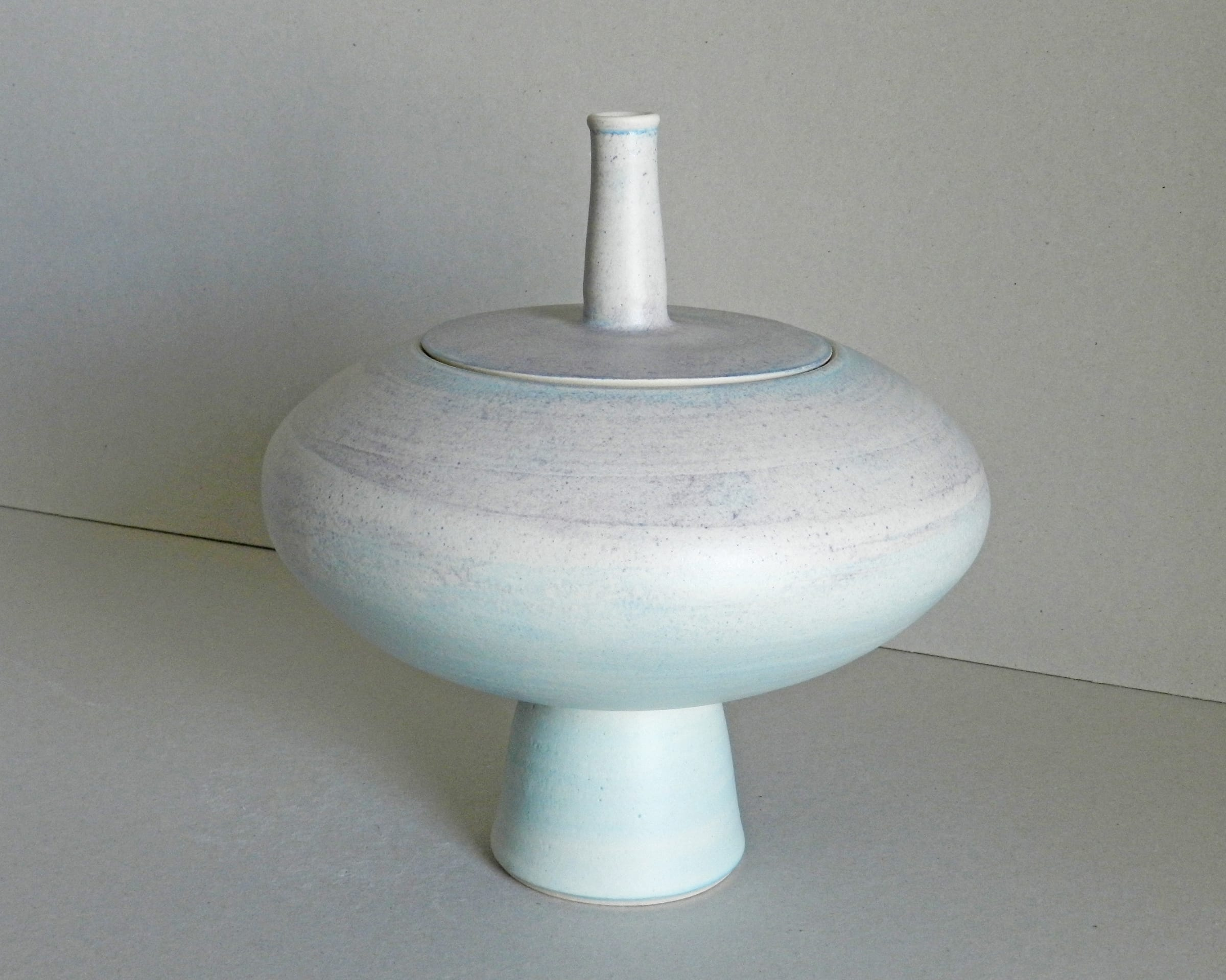 """<span class=""""link fancybox-details-link""""><a href=""""/artists/243-christine-feiler/works/6868-christine-feiler-lidded-pot-2019/"""">View Detail Page</a></span><div class=""""artist""""><strong>Christine Feiler</strong></div> b. 1948 <div class=""""title""""><em>Lidded pot</em>, 2019</div> <div class=""""signed_and_dated"""">Ceramicist mark on base</div> <div class=""""medium"""">Stoneware with enamels</div><div class=""""price"""">£320.00</div><div class=""""copyright_line"""">Copyright The Artist</div>"""
