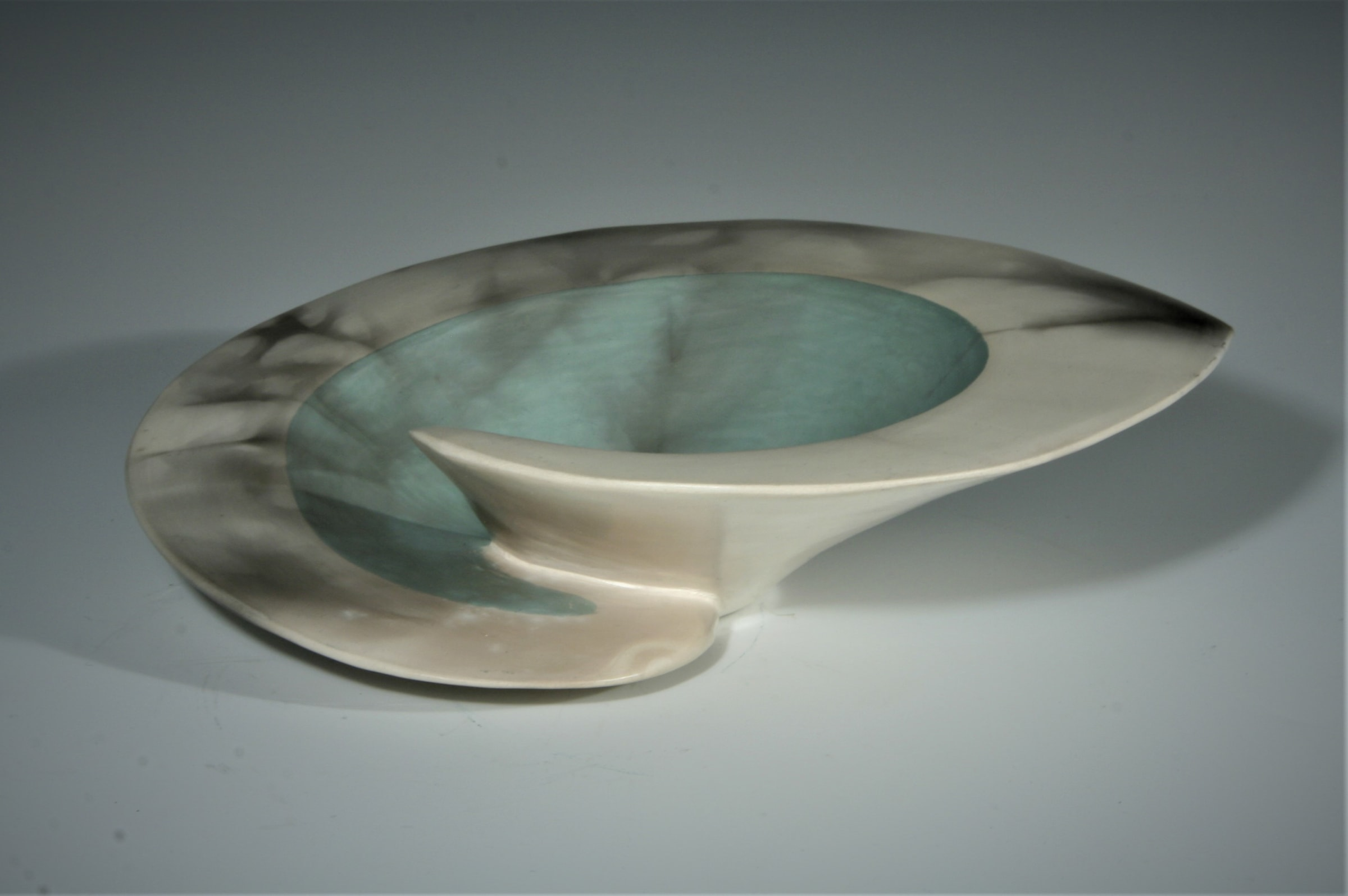"""<span class=""""link fancybox-details-link""""><a href=""""/artists/38-antonia-salmon/works/5694-antonia-salmon-green-dervish-bowl-ii-2018/"""">View Detail Page</a></span><div class=""""artist""""><strong>Antonia Salmon</strong></div> b. 1959 <div class=""""title""""><em>Green Dervish Bowl II</em>, 2018</div> <div class=""""signed_and_dated"""">stamped AS</div> <div class=""""medium"""">Ceramic</div><div class=""""copyright_line"""">£ 21 x 10 Months, OwnArt 0% APR</div>"""