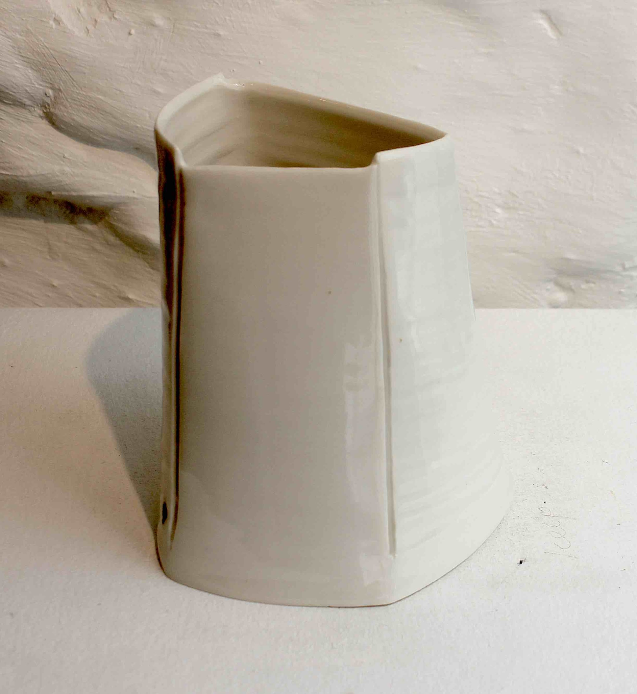 """<span class=""""link fancybox-details-link""""><a href=""""/artists/99-carina-ciscato/works/5763-carina-ciscato-small-white-vase-2018/"""">View Detail Page</a></span><div class=""""artist""""><strong>Carina Ciscato</strong></div> b. 1970 <div class=""""title""""><em>Small White Vase</em>, 2018</div> <div class=""""signed_and_dated"""">porcelain</div> <div class=""""medium"""">porcelain</div> <div class=""""dimensions"""">12 x 8 cm<br /> 4 3/4 x 3 1/8 inches</div><div class=""""price"""">£420.00</div><div class=""""copyright_line"""">OwnArt: £42 x 10 Months, 0% APR</div>"""