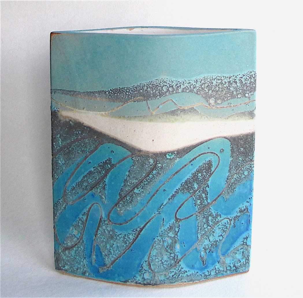 """<span class=""""link fancybox-details-link""""><a href=""""/artists/44-sarah-perry/works/7445-sarah-perry-seascape-ellipse-2020/"""">View Detail Page</a></span><div class=""""artist""""><strong>Sarah Perry</strong></div> <div class=""""title""""><em>Seascape Ellipse</em>, 2020</div> <div class=""""medium"""">Stoneware<br /> Impressed with the artist's seal 'SP'</div> <div class=""""dimensions"""">h. 24 cm x 19.5 cm x d. 6 cm</div><div class=""""copyright_line"""">Own Art: £24.20 x 10 months, 0% APR</div>"""