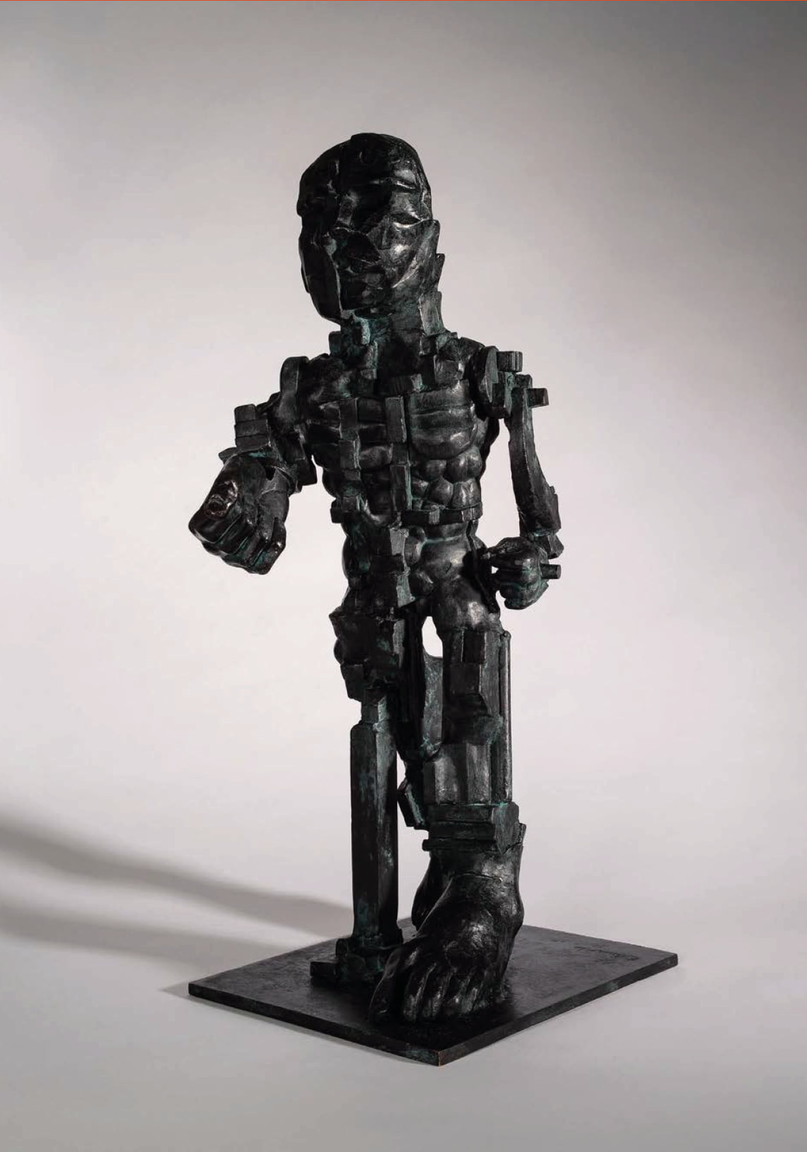 "<span class=""link fancybox-details-link""><a href=""/artists/60-eduardo-paolozzi/works/401-eduardo-paolozzi-vulcan-1998/"">View Detail Page</a></span><div class=""artist""><strong>Eduardo Paolozzi</strong></div> <div class=""title""><em>Vulcan</em>, 1998</div> <div class=""signed_and_dated"">signed (inscribed) 'Paolozzi' a/c<br /> </div> <div class=""medium"">Bronze - a/c (after edition of 2)</div> <div class=""dimensions"">60.5 x 24 x 29cm</div>"