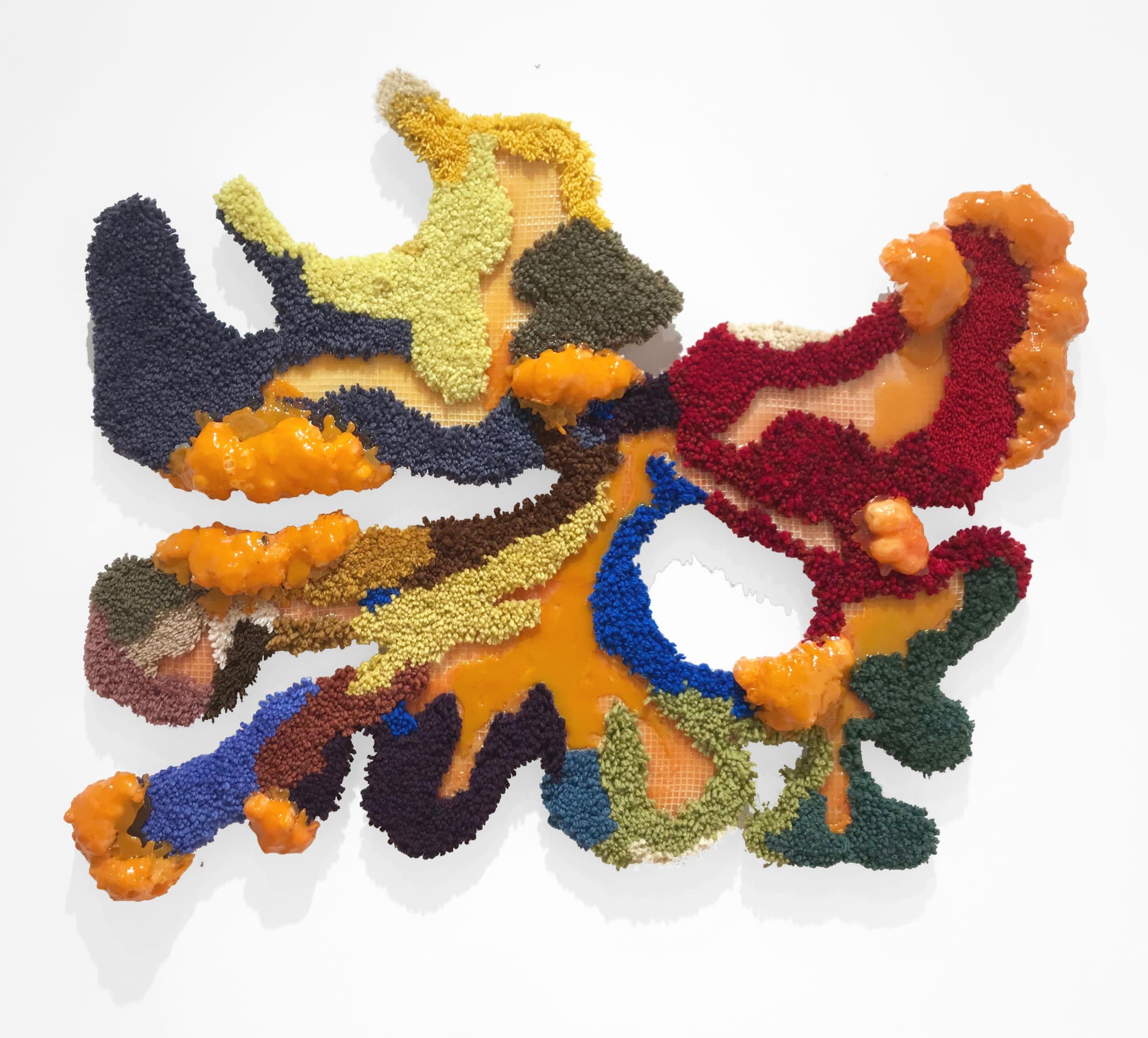 "<span class=""link fancybox-details-link""><a href=""/artists/79-marianne-thoermer/works/1052-marianne-thoermer-internal-landscape-ii-2019/"">View Detail Page</a></span><div class=""artist""><strong>Marianne Thoermer</strong></div> <div class=""title""><em>Internal landscape II</em>, 2019</div> <div class=""medium"">Glasswax, mdf board, wool, rug canvas, expanding foam</div> <div class=""dimensions"">122 x 130 x 13cms</div>"