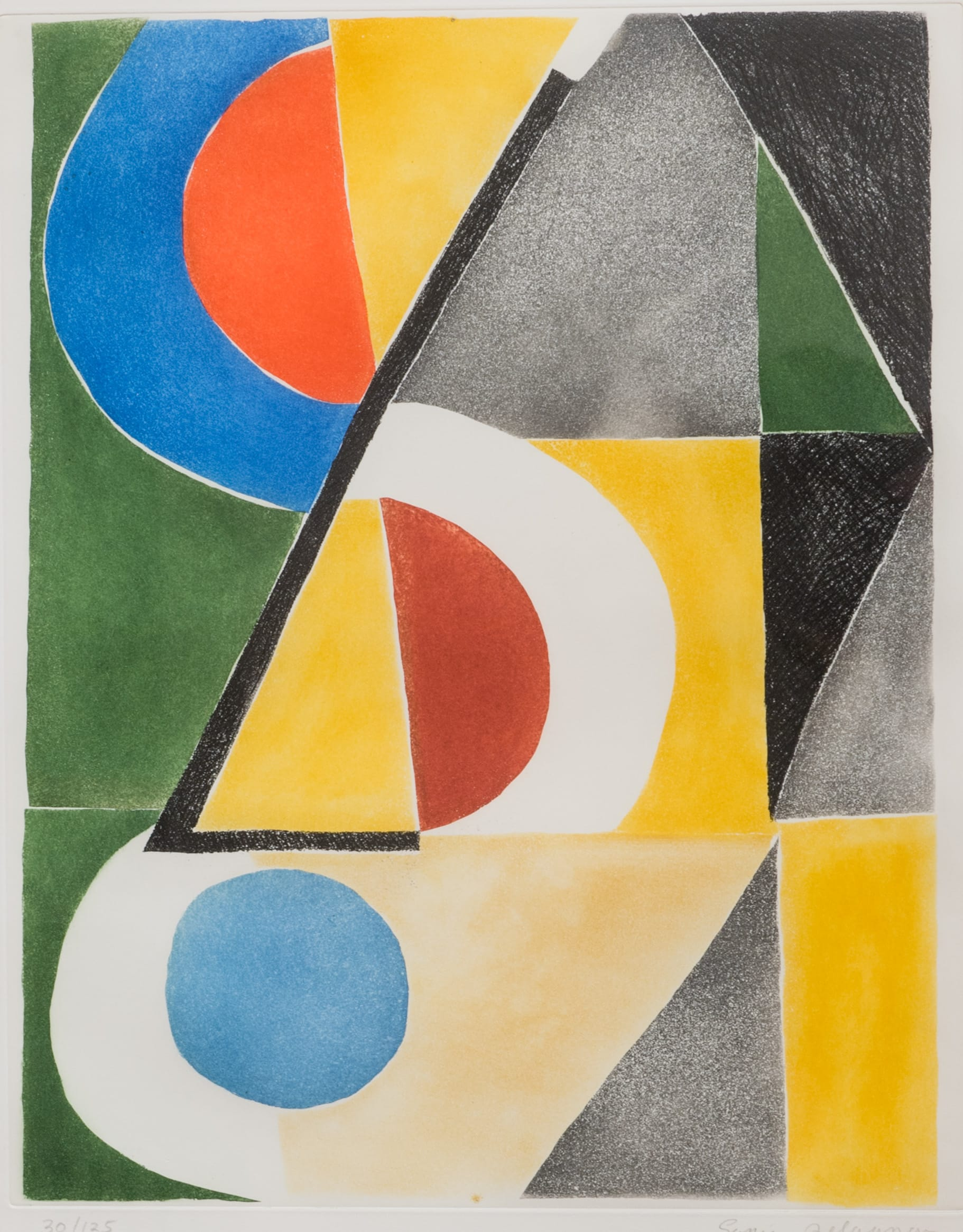 """<span class=""""link fancybox-details-link""""><a href=""""/artists/39-sonia-delaunay/works/442-sonia-delaunay-untitled-1963/"""">View Detail Page</a></span><div class=""""artist""""><strong>Sonia Delaunay</strong></div> 1885 - 1979 <div class=""""title"""">Untitled , 1963</div> <div class=""""medium"""">etching and aquatint on Arches paper</div> <div class=""""dimensions"""">26 x 19 3/4 in<br /> 66 x 50 cm</div>"""